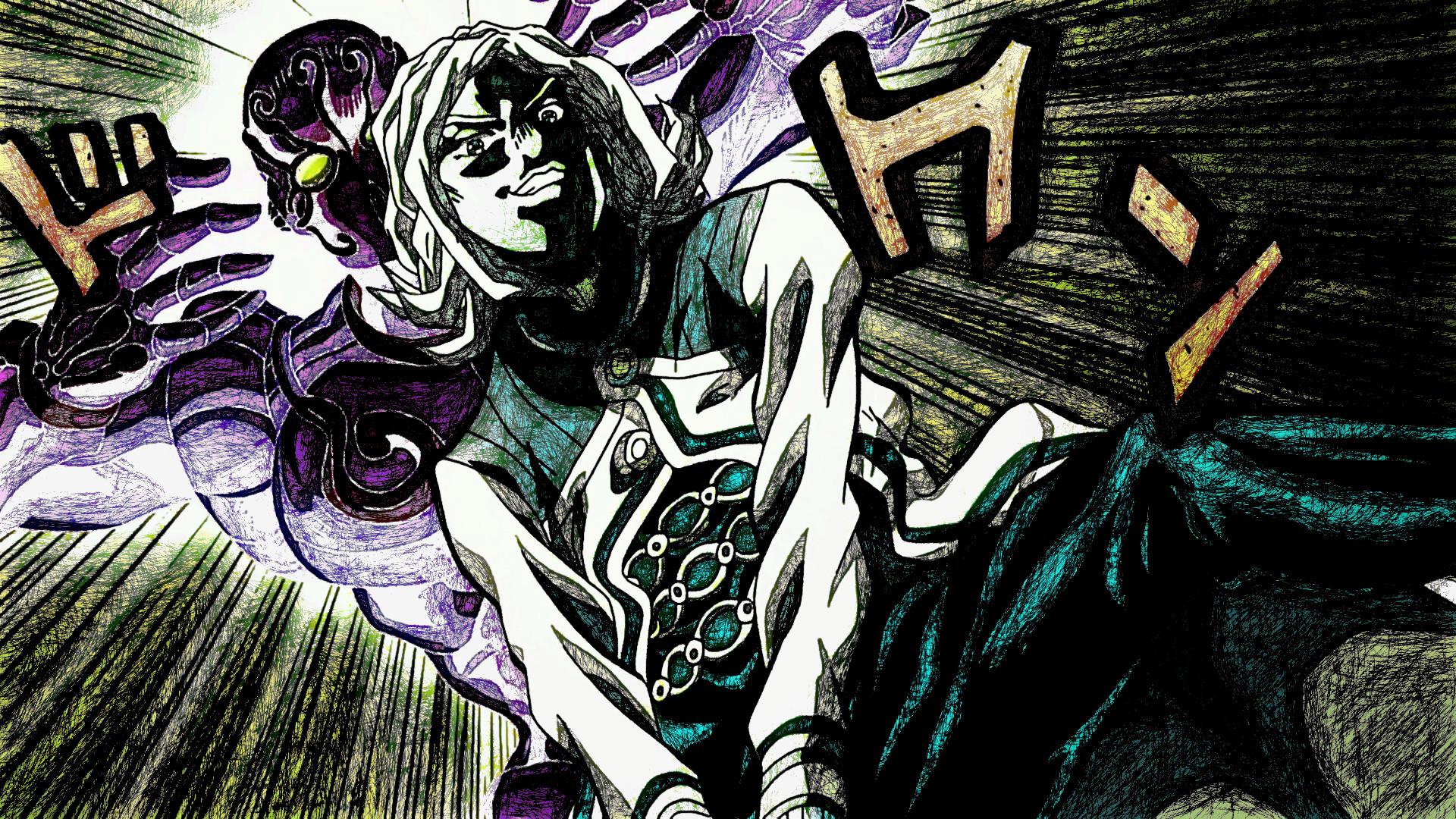 Anime – Jojo's Bizarre Adventure Enigma (Jojo's Bizarre Adventure)  Terunosuke Miyamoto Wallpaper