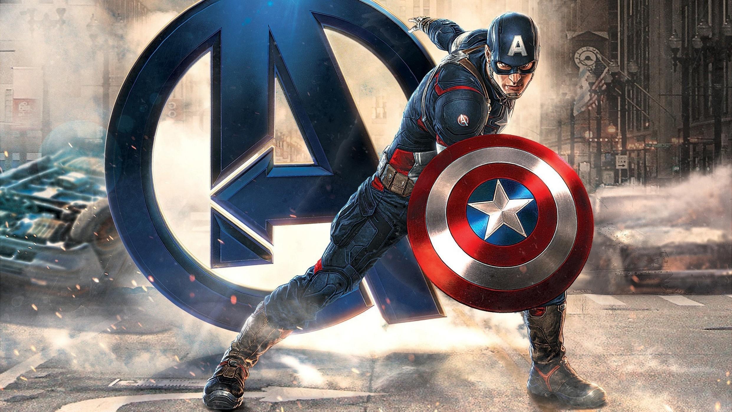 Captain America Avengers Good Anime Dual Monitor Wallpaper