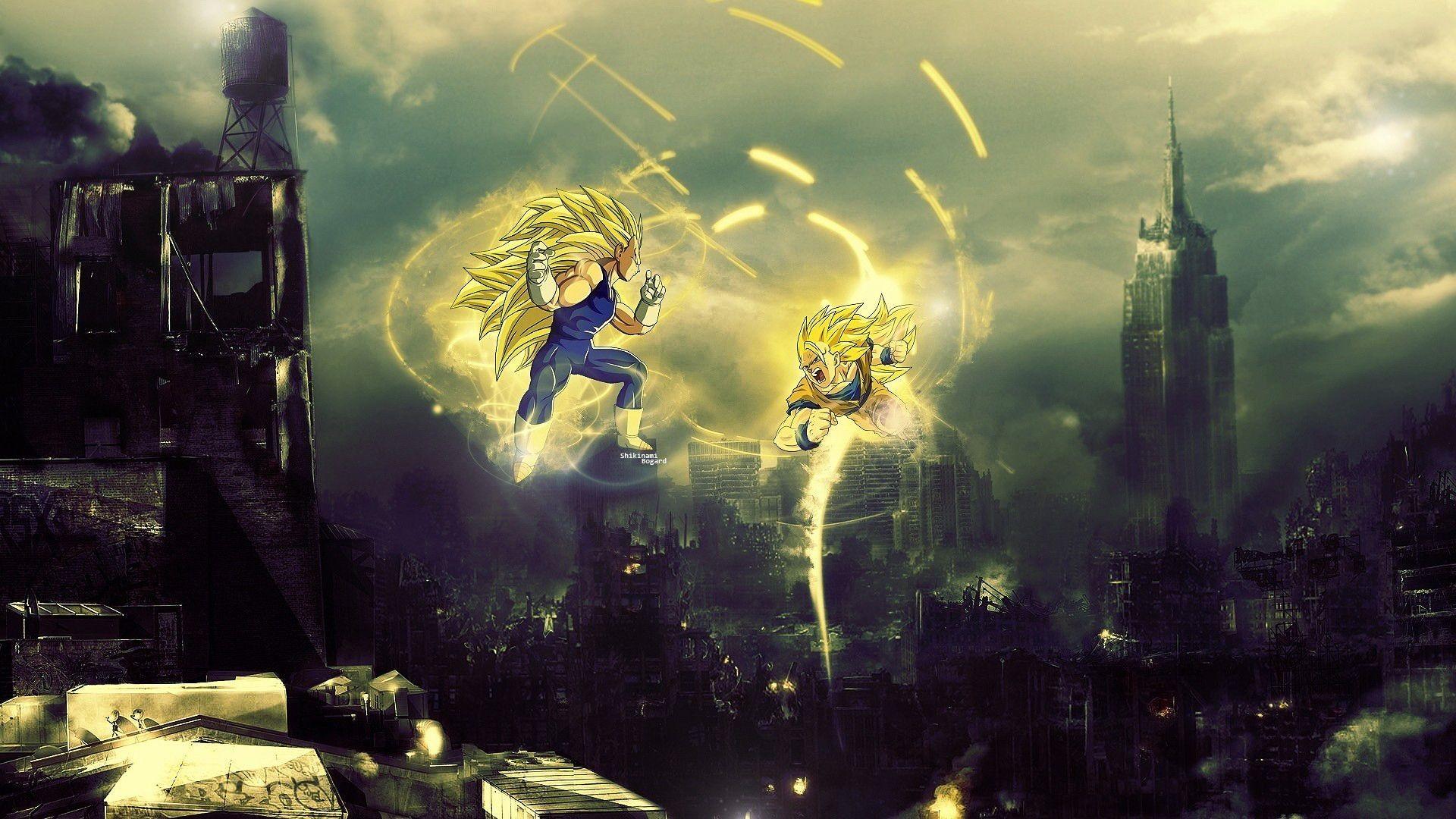 Super Saiyan 3 Vegeta vs Goku Dragon Ball Z Anime HD Wall.