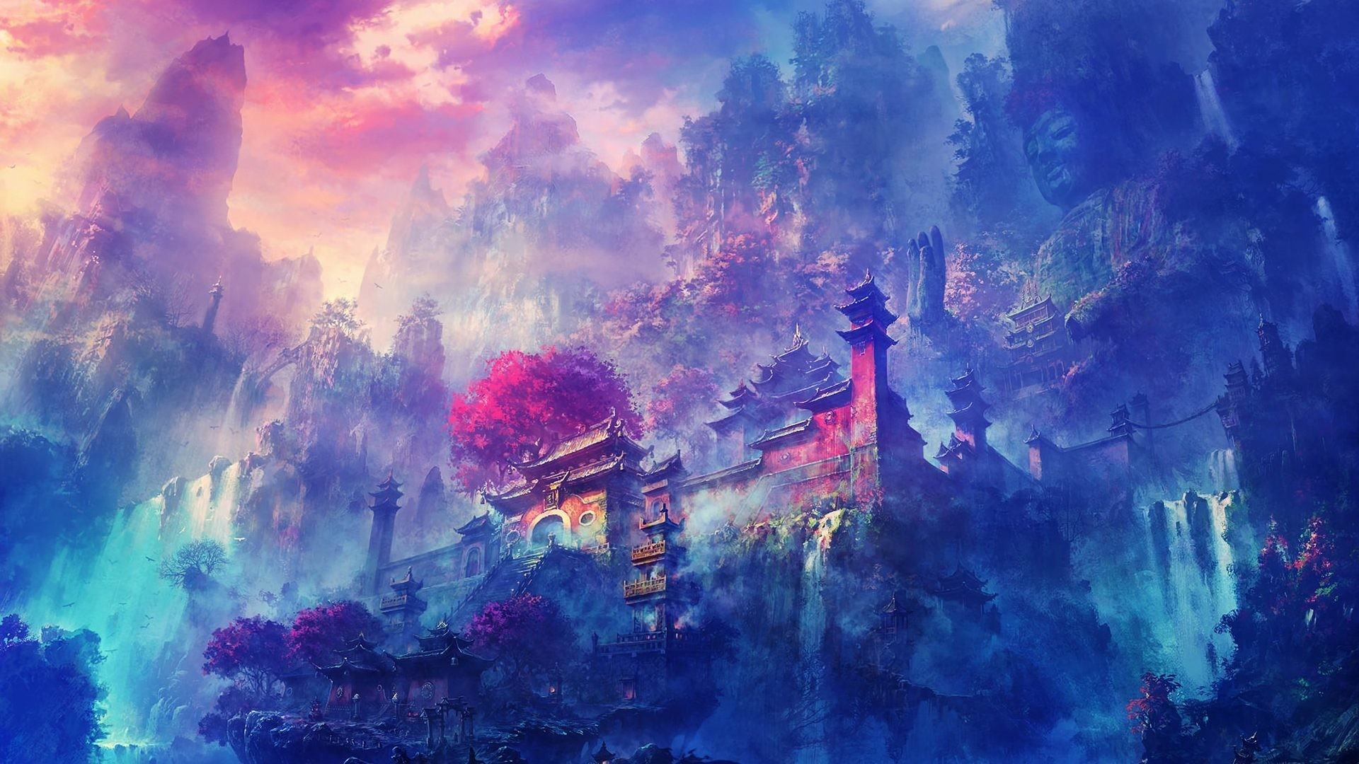 dark anime scenery wallpaper[1920×1080] …