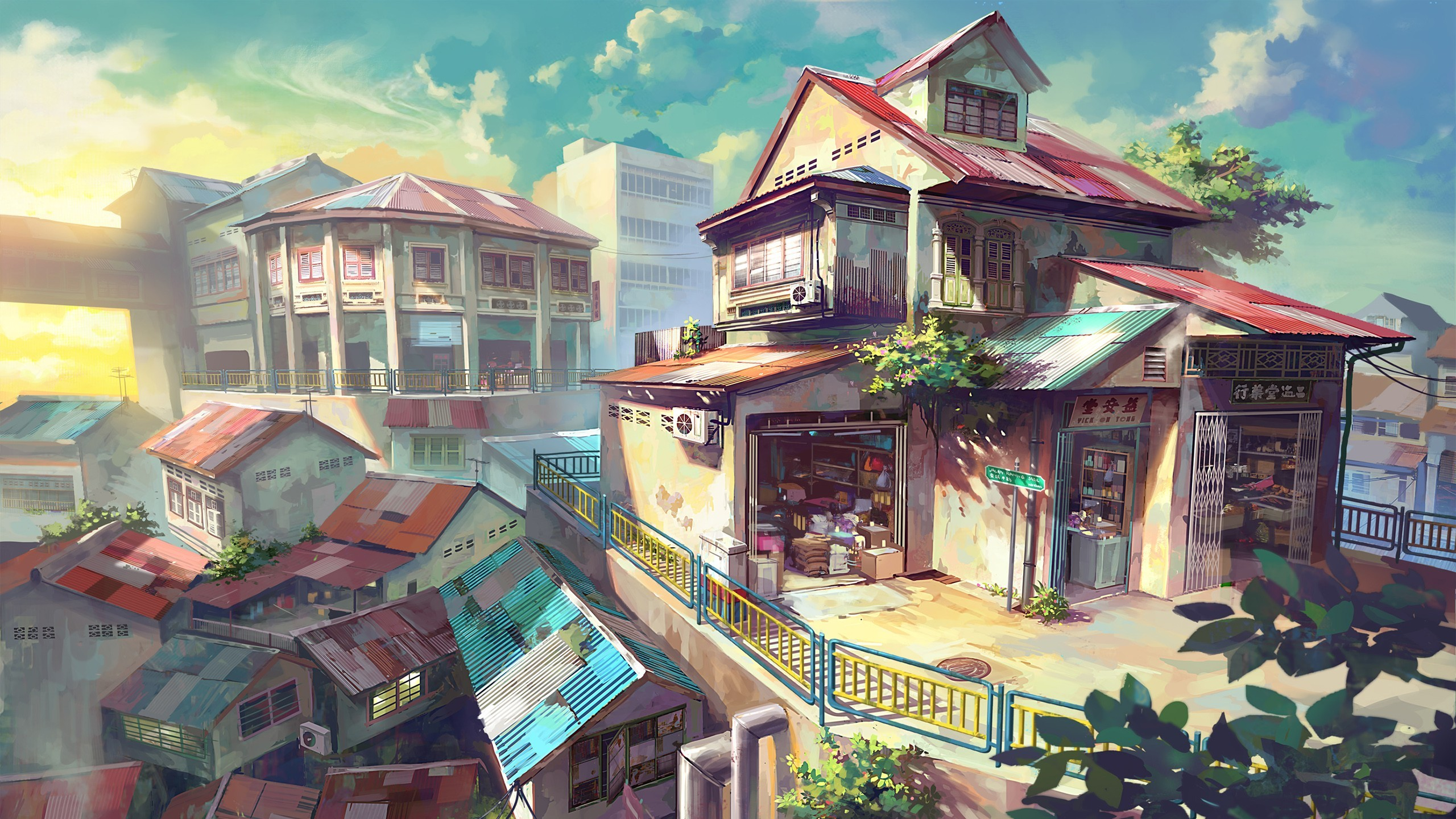 Anime Scenery Wallpapers Background with High Resolution Wallpaper  px 893.29 KB