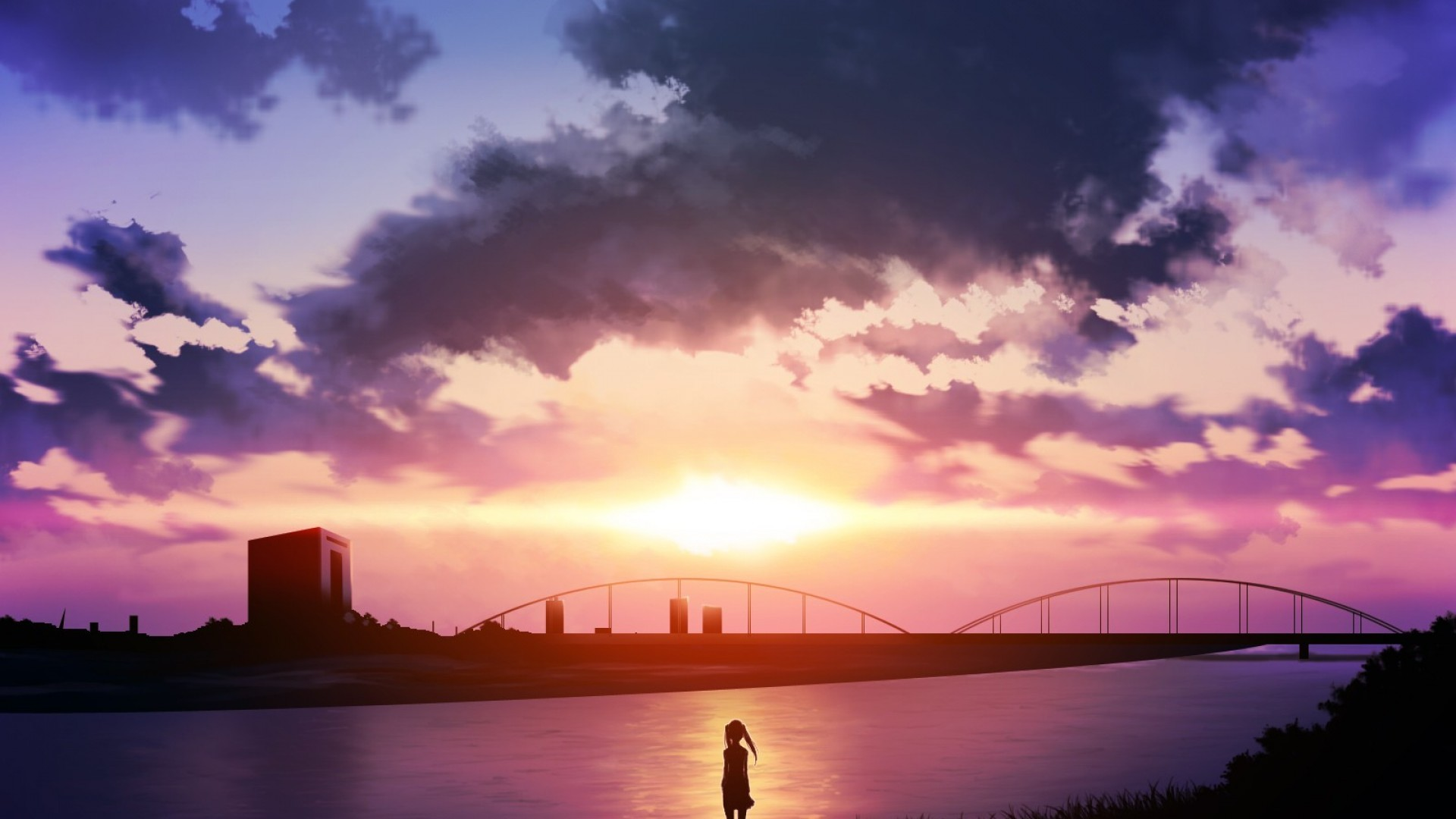 Image – Sunset-Anime-Scenery-Wallpaper-HD.jpg | Brothers Conflict Wiki |  FANDOM powered by Wikia