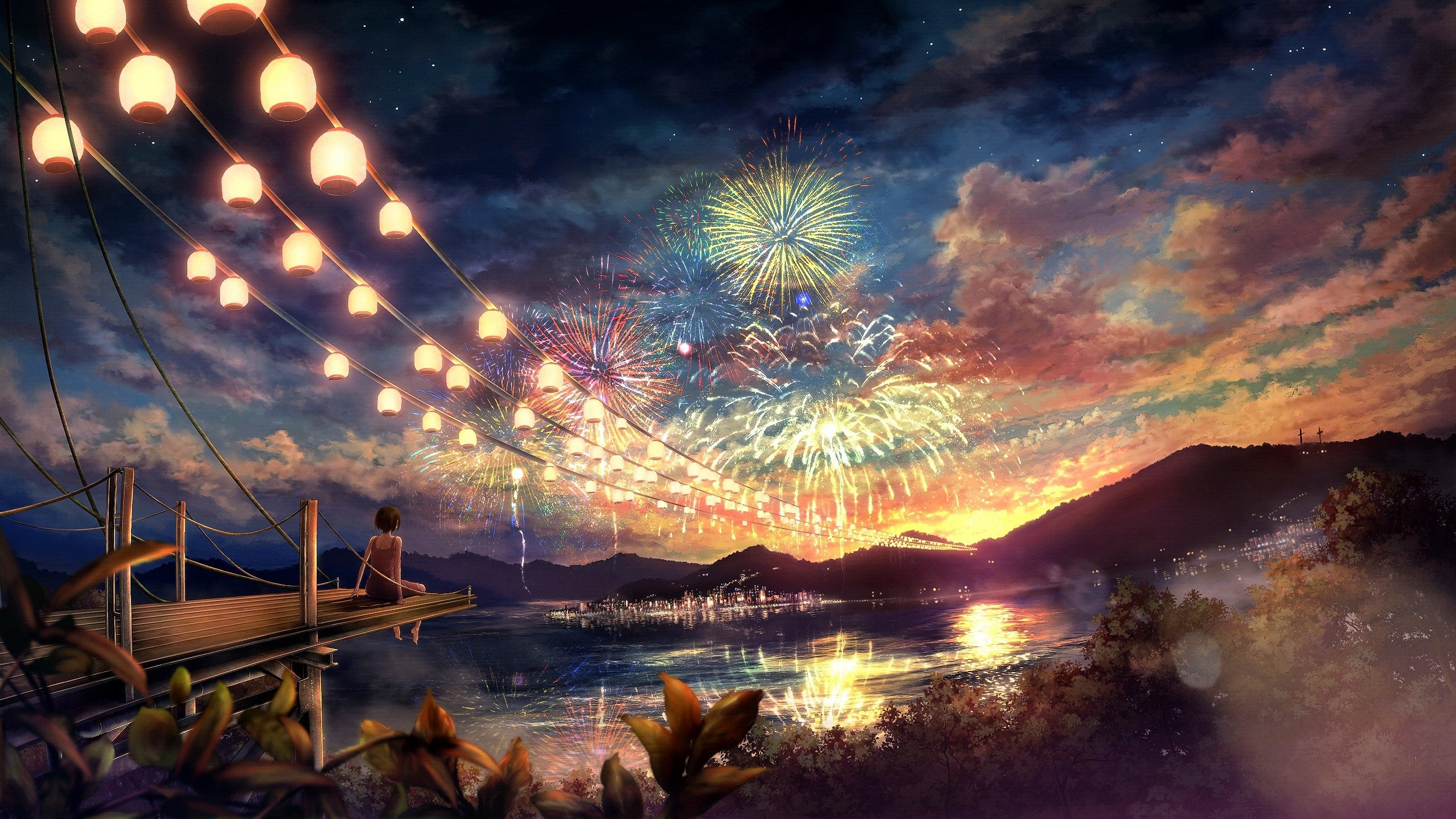 Night Anime Scenery High Quality Resolution Wallpapers Dark Iphone .