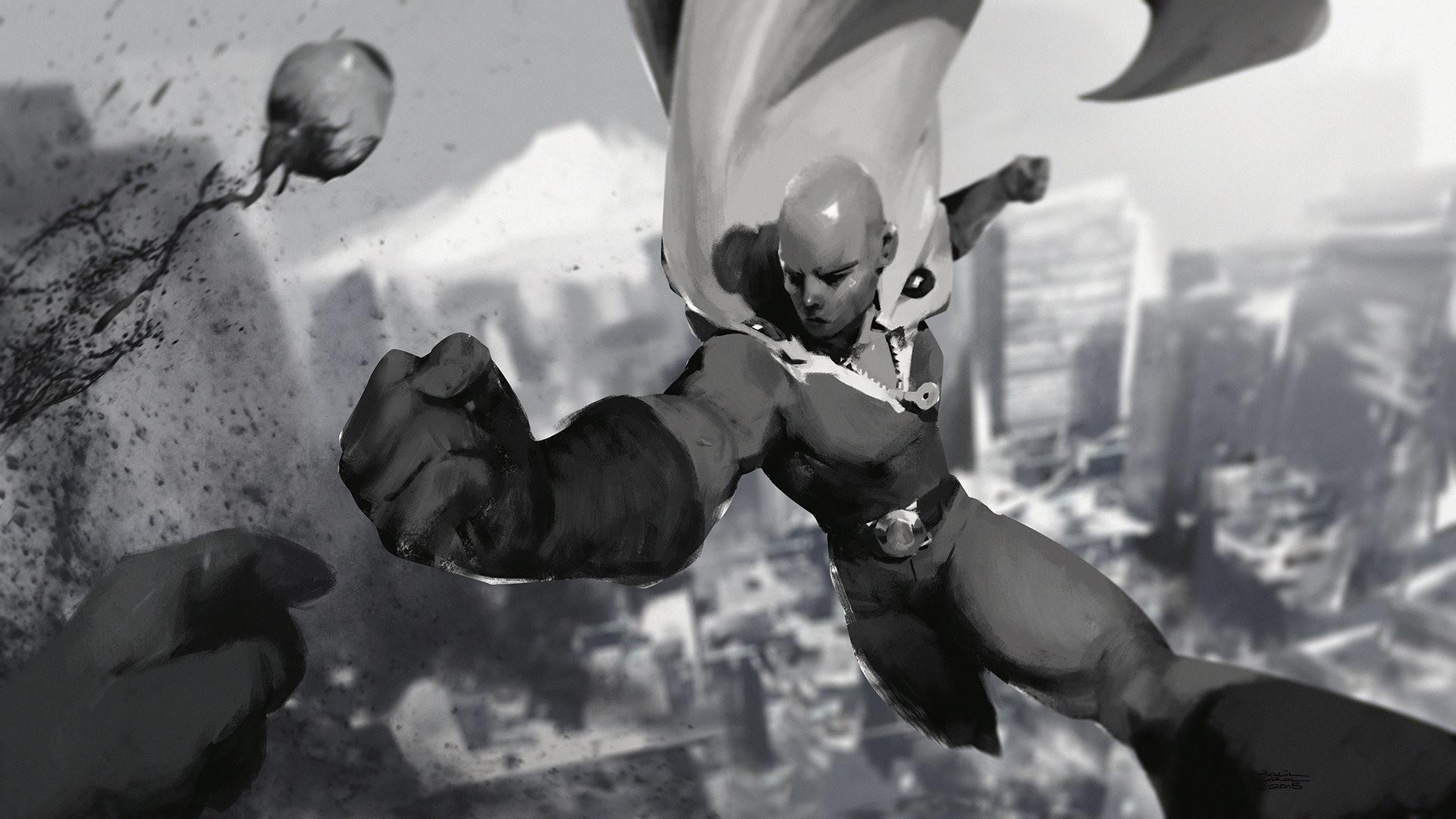 Anime – One-Punch Man Saitama (One-Punch Man) Bakgrund