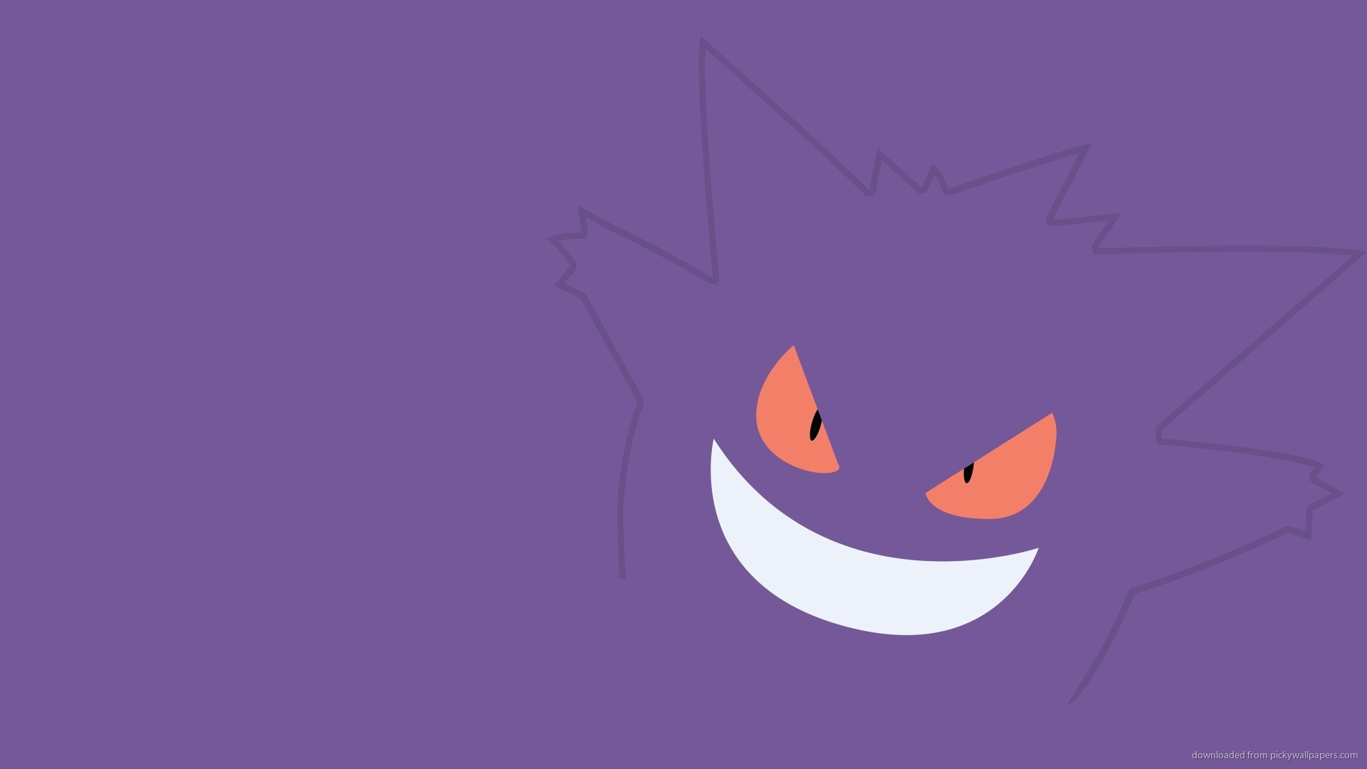 HD Simple Gengar Pokemon Wallpaper wallpaper