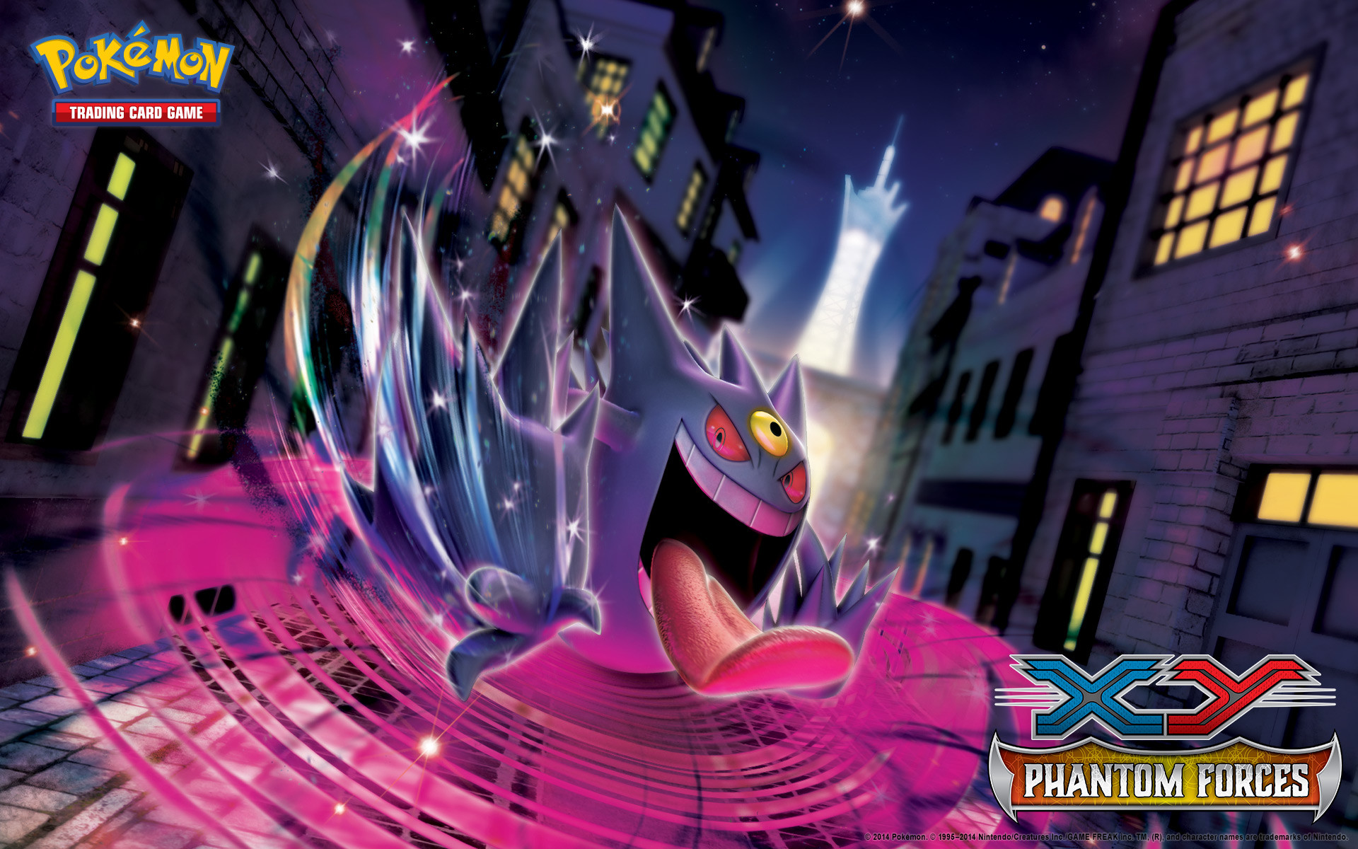Pokémon TCG: <em>XY—Phantom Forces</em> Gengar Wallpaper