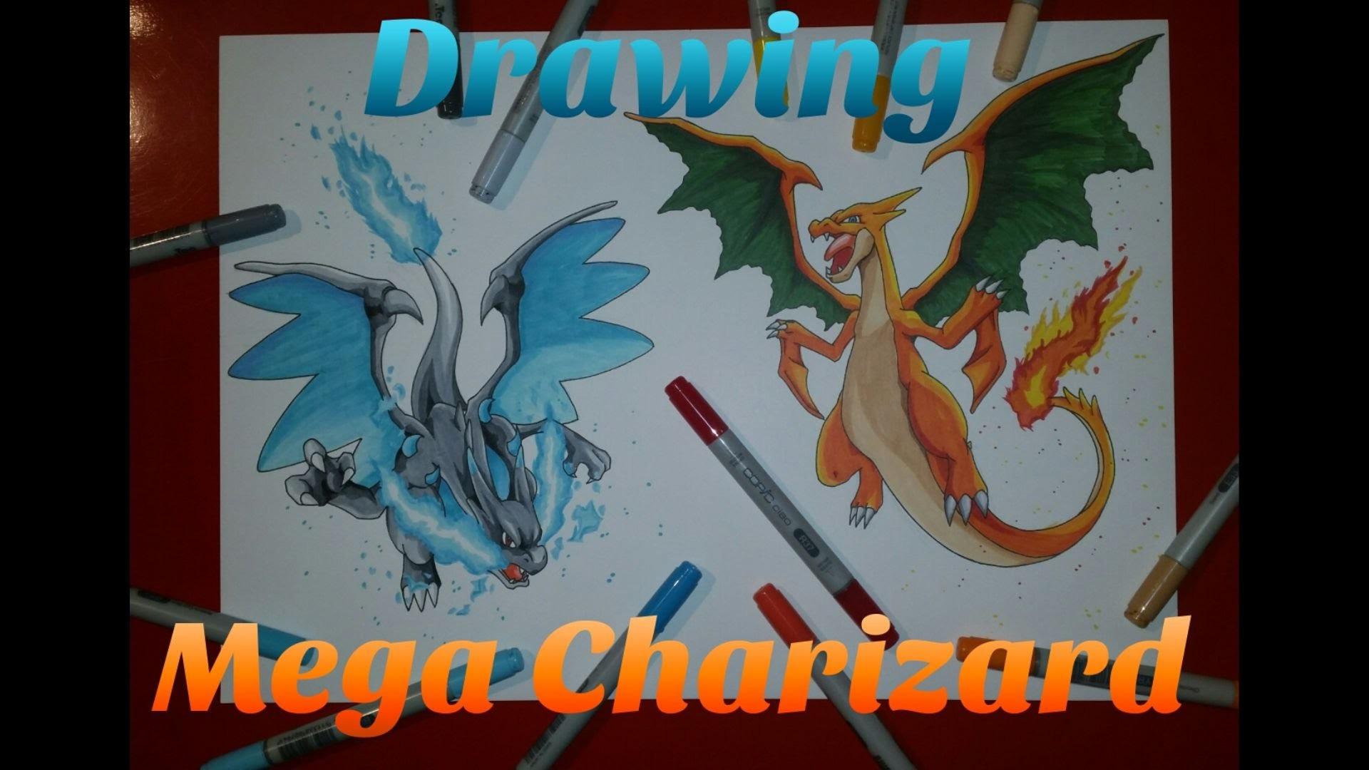 Drawing Mega Charizard / Mega Charizard X | Pokemon | TolgArt – YouTube
