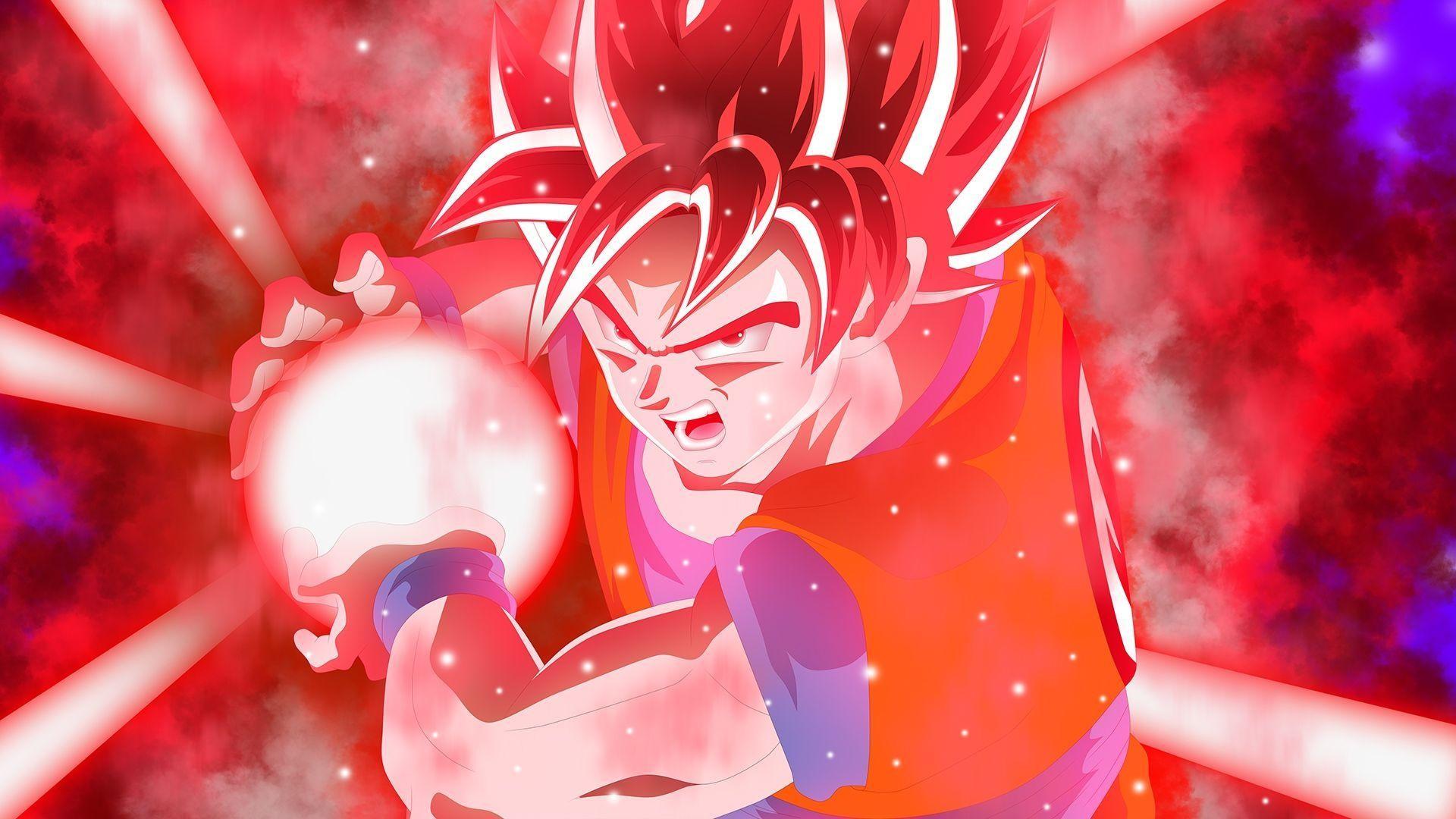 Goku Kamehame Wave Super Saiyan God … Wallpaper #42174