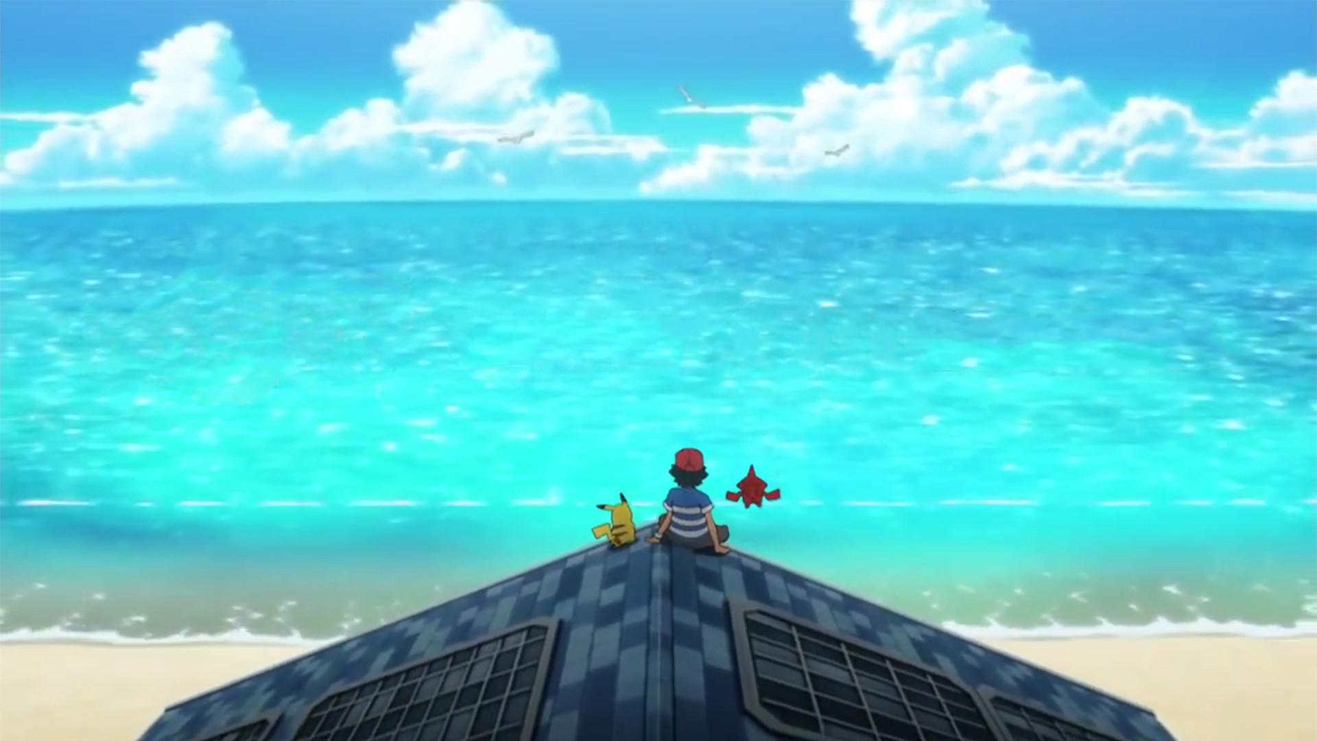 Pok̩mon: Sun & Moon РAnime Intro Wallpaper (1080p) (Scaled)