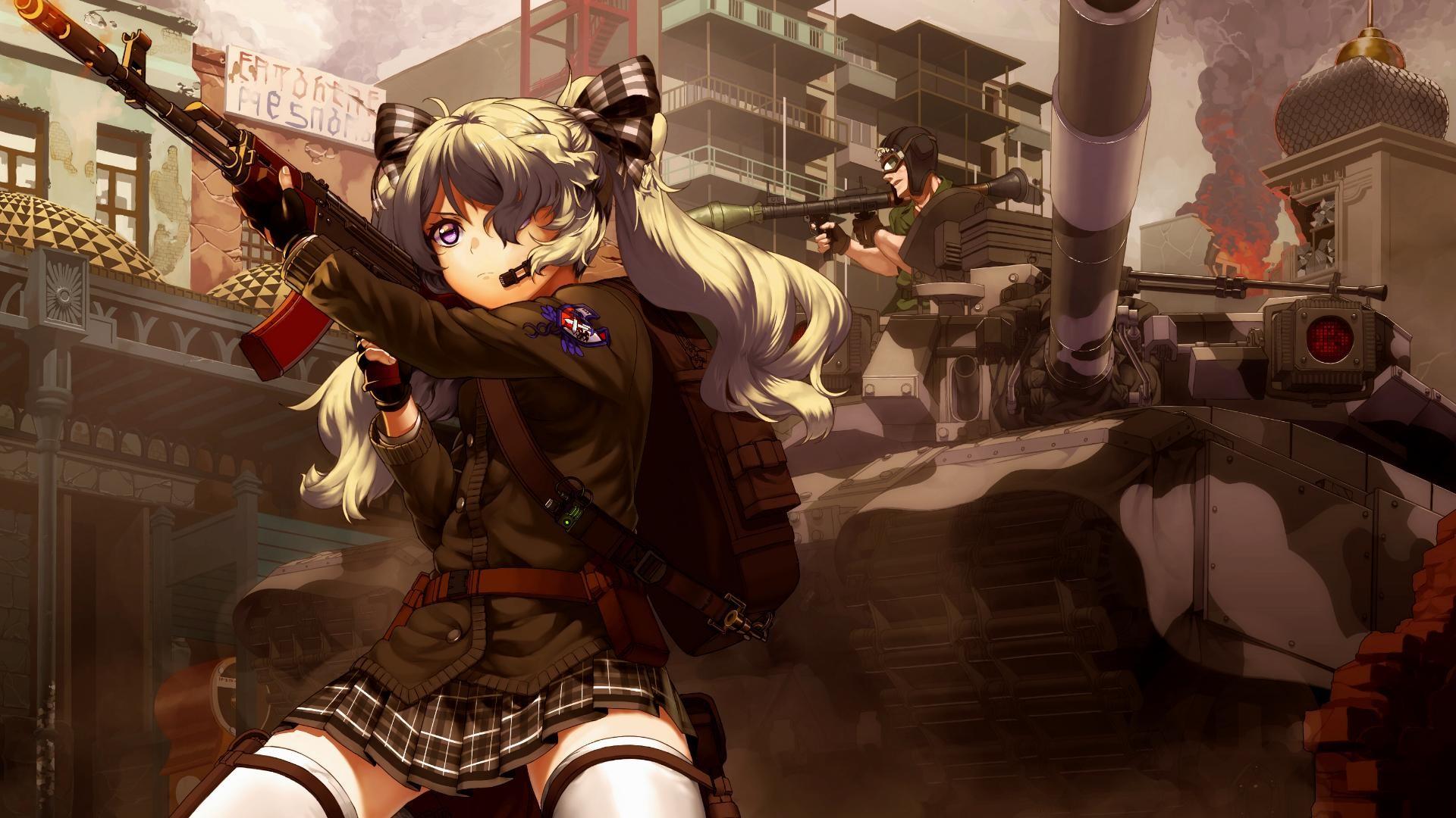 Anime-1920×1080-anime-girls-anime-weapon-tank-AK-