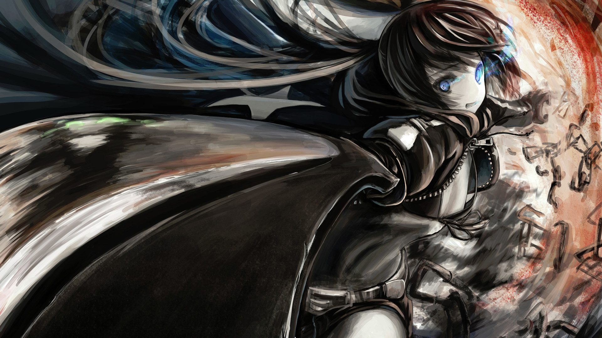 Black Rock Shooter 1080p Wallpaper from Shadow of Death – hosted by .