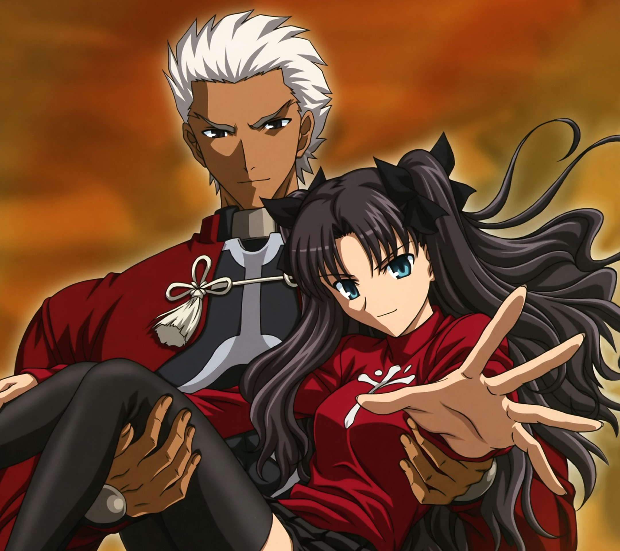 Fate Stay Night Unlimited Blade Works Rin Tohsaka Archer.Android wallpaper  2160×1920