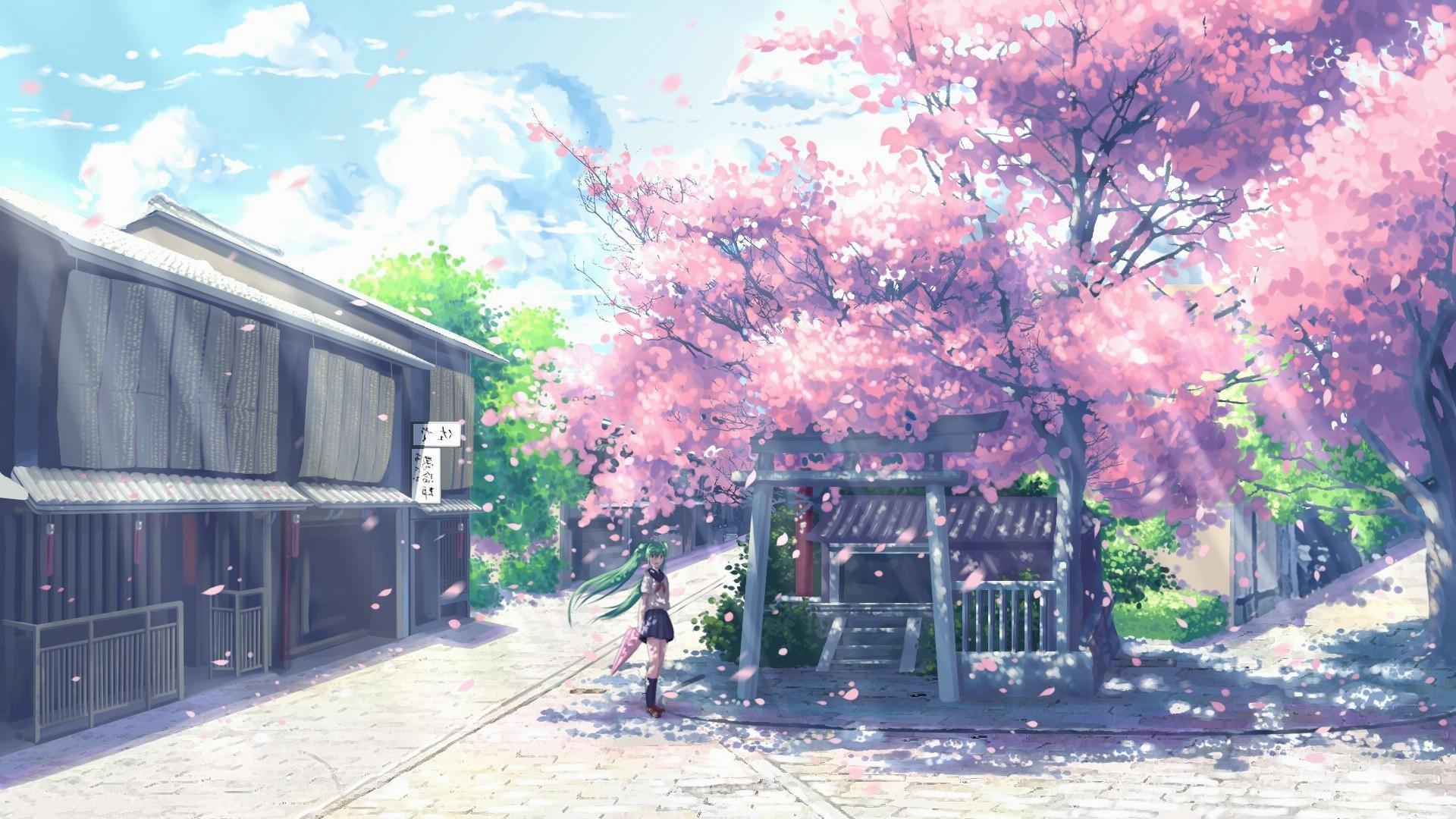 wallpaper.wiki-Anime-Cherry-Blossom-Hi-Res-1920×1080-
