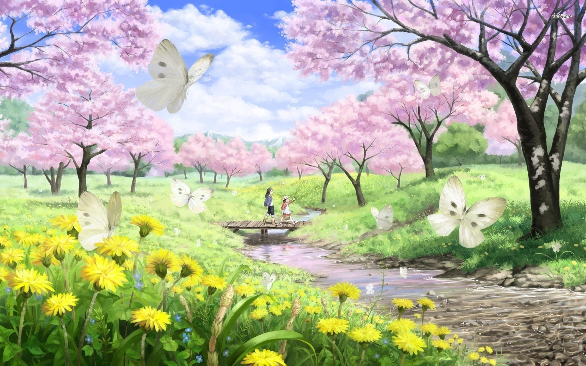 Related Anime cherry blossom wallpaper dowload