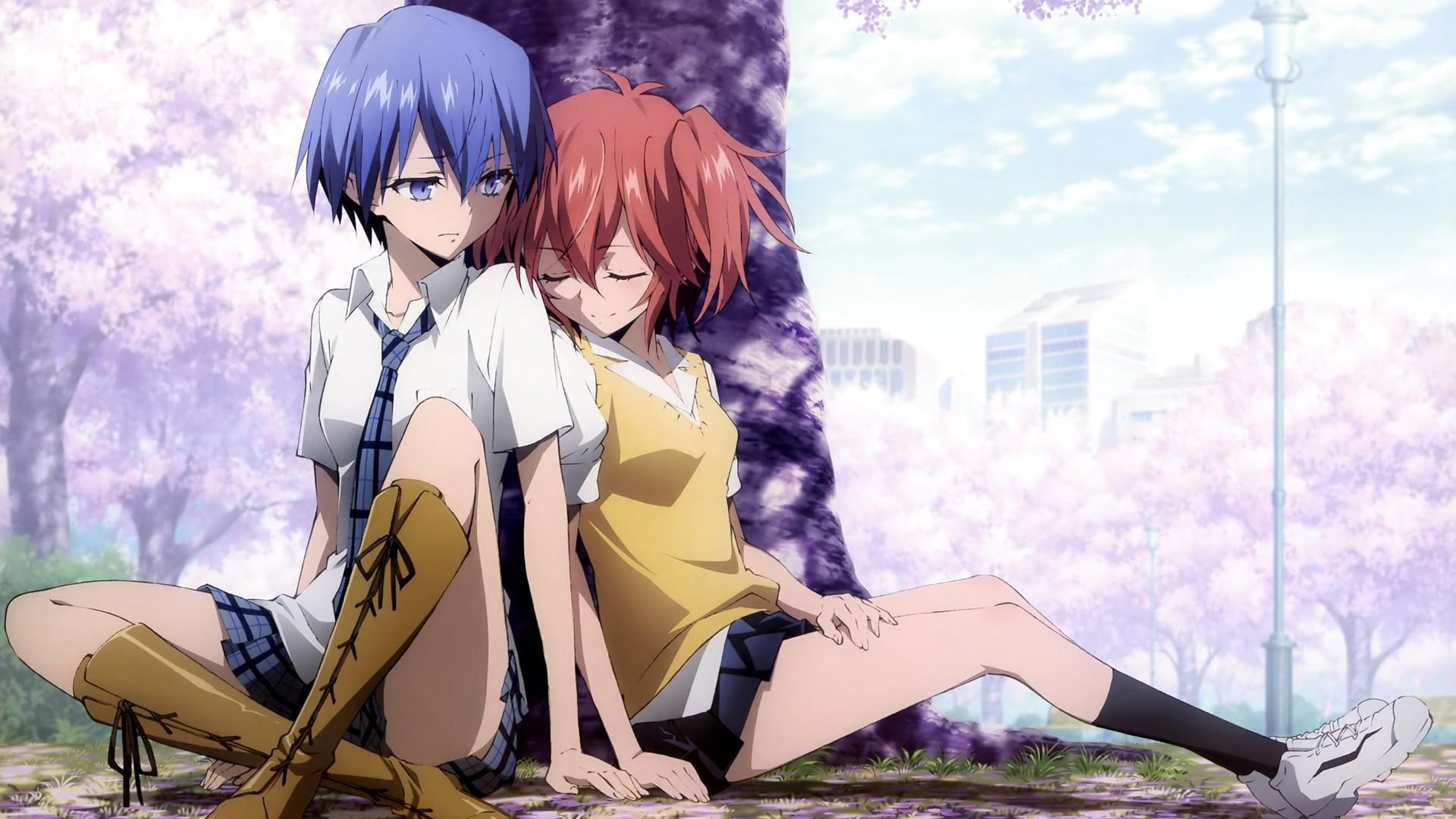 Ichinose Haru, Azuma Tokaku, Anime, Cherry Blossom Trees wallpaper thumb