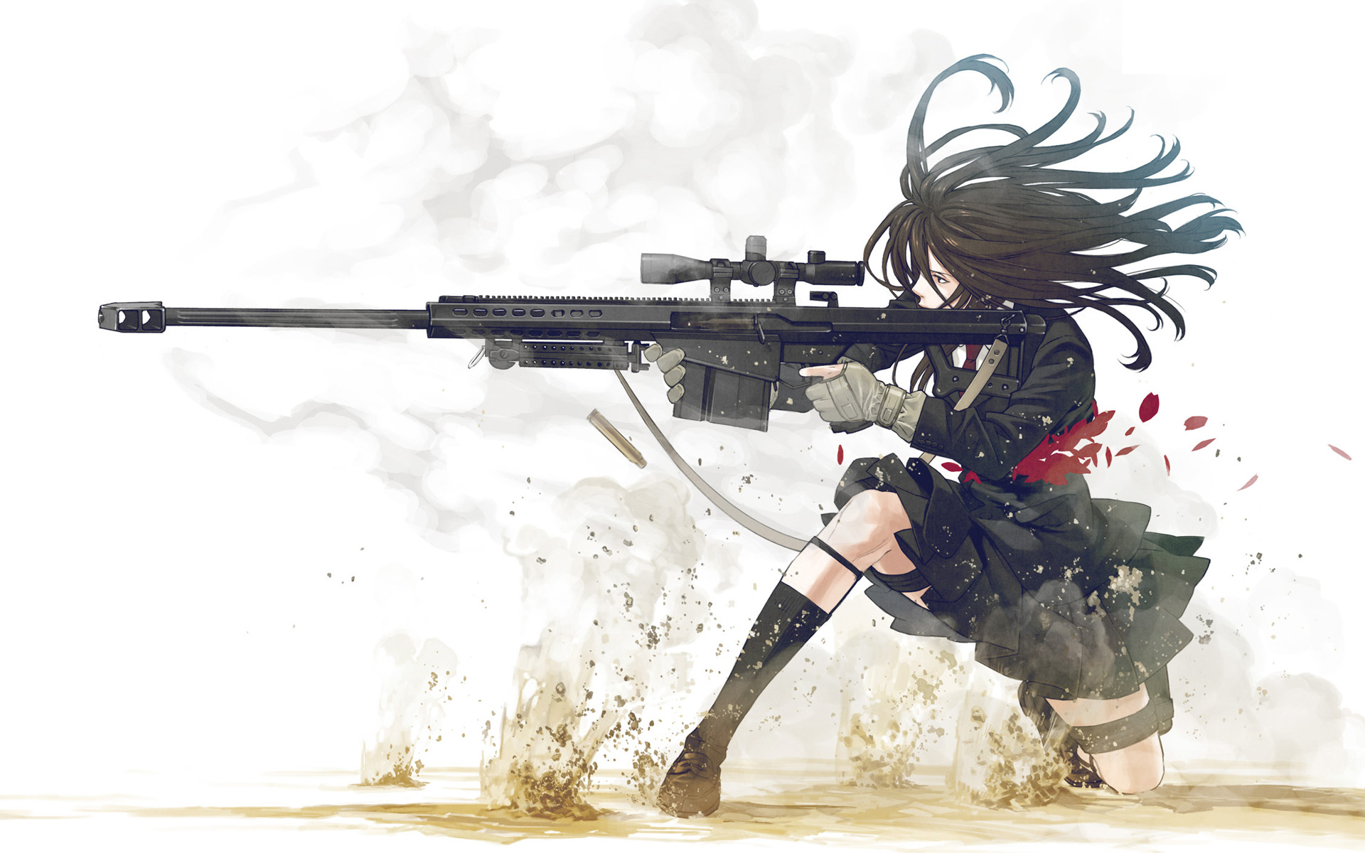 … Girl with a sniper rifle