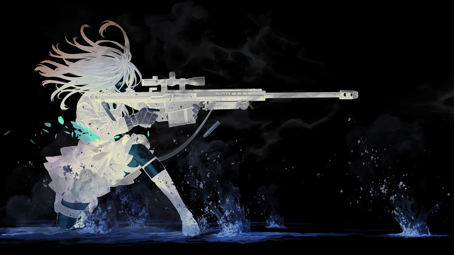 Anime chica del arma mejorada Cool Wallpaper
