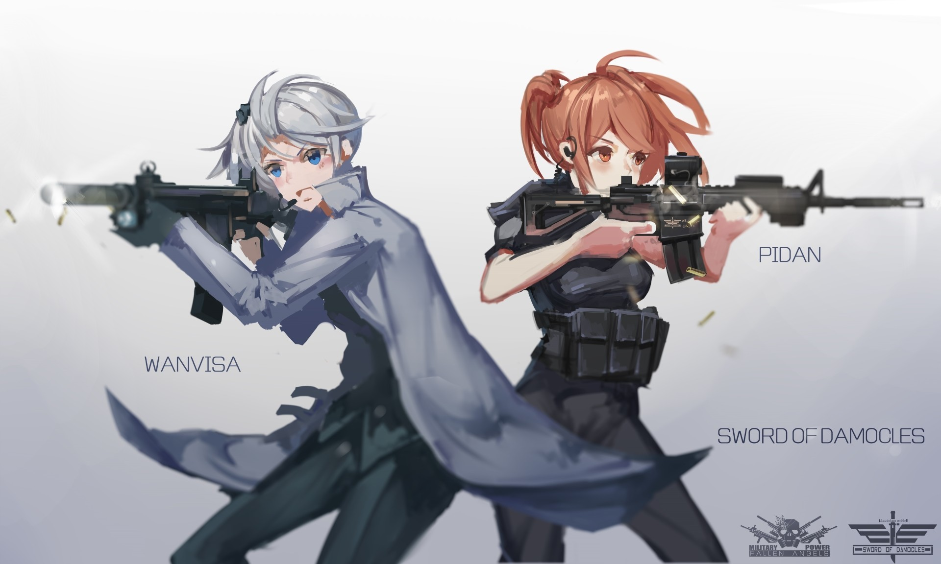 Anime anime anime girls gun weapon