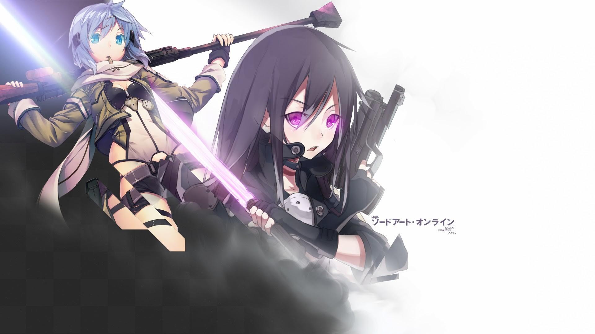 Gun Gale Online Sinon and Kirito – Sword Art Online Wallpaper