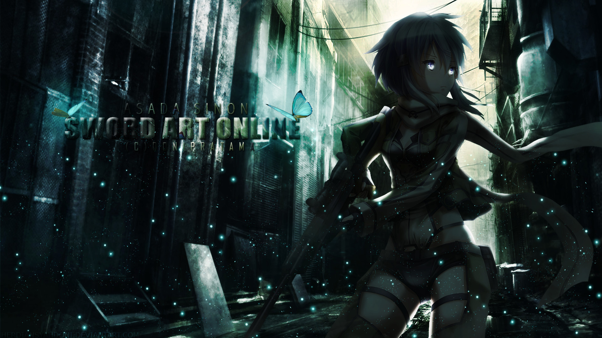 Anime – Sword Art Online II Sinon (Sword Art Online) Asada Shino Wallpaper
