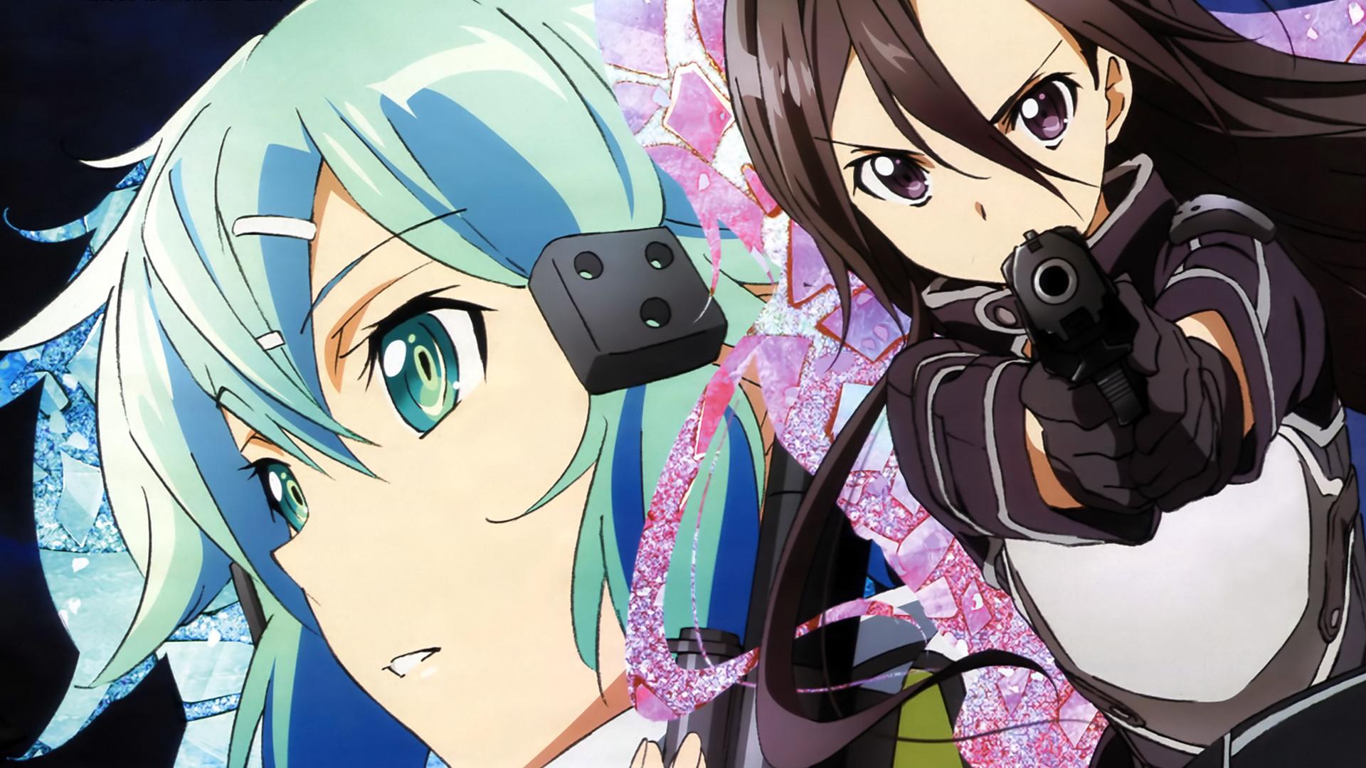 Sinon and Kirito Gun Gale Online
