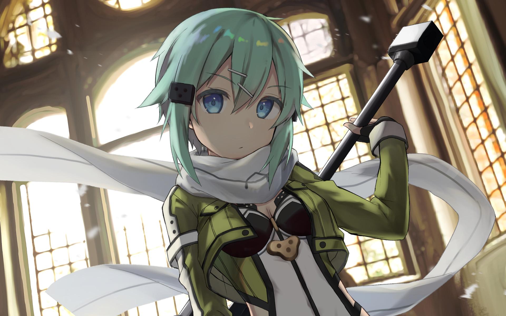 Anime Sword Art Online II Sinon (Sword Art Online) Asada Shino Fondo de  Pantalla