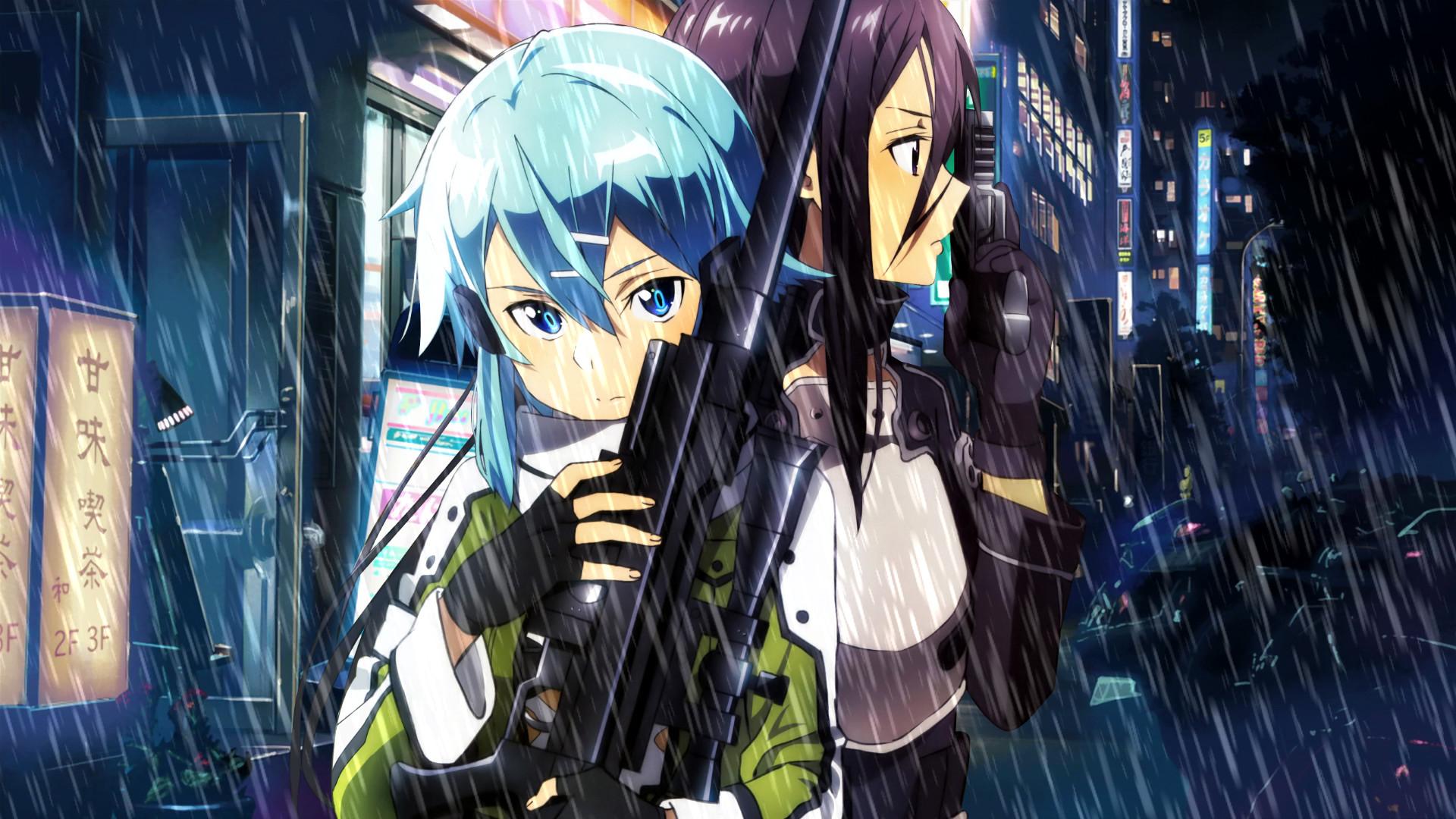 Anime – Sword Art Online II Sinon (Sword Art Online) Kirito (Sword Art