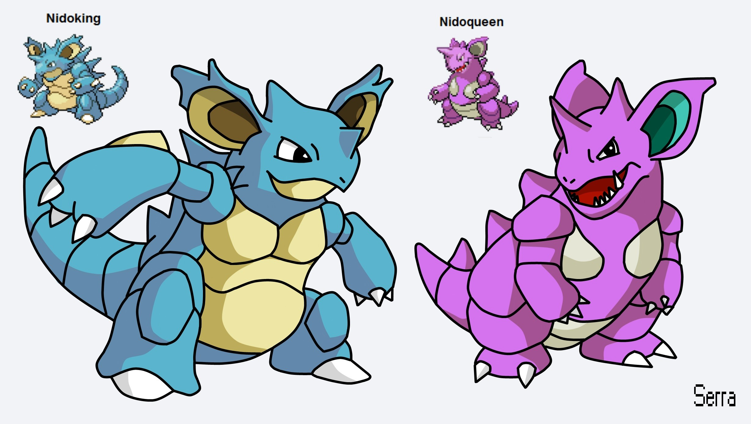 … Pokemon Fusion – Nidoking and Nidoqueen by TheSerraVich