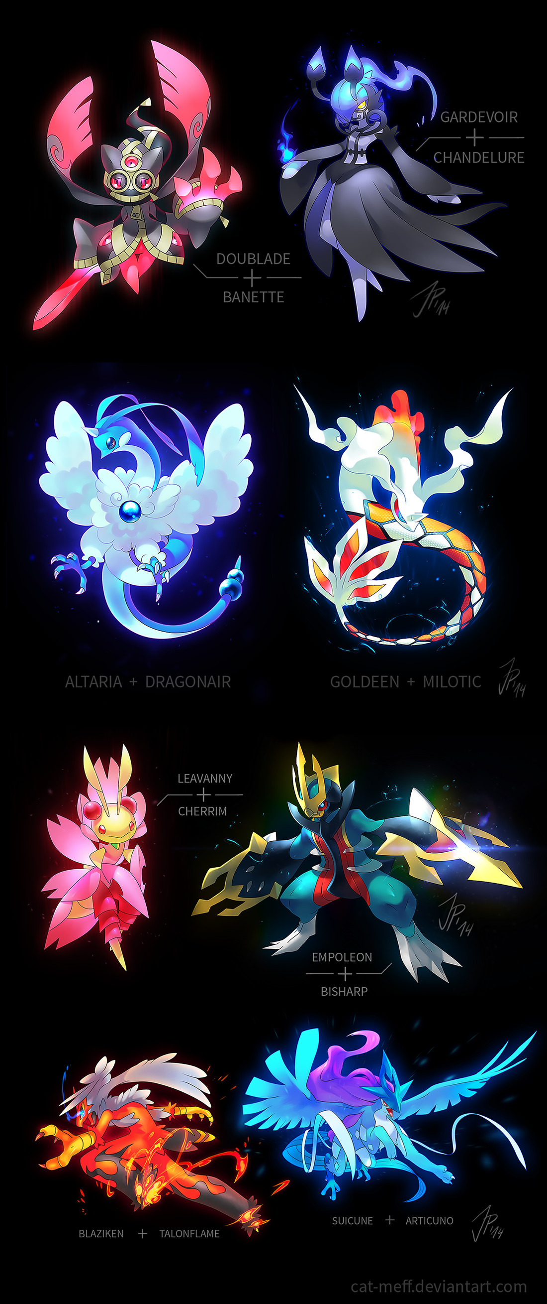 Some amazingly gorgeous pokemon redesigns and fusions