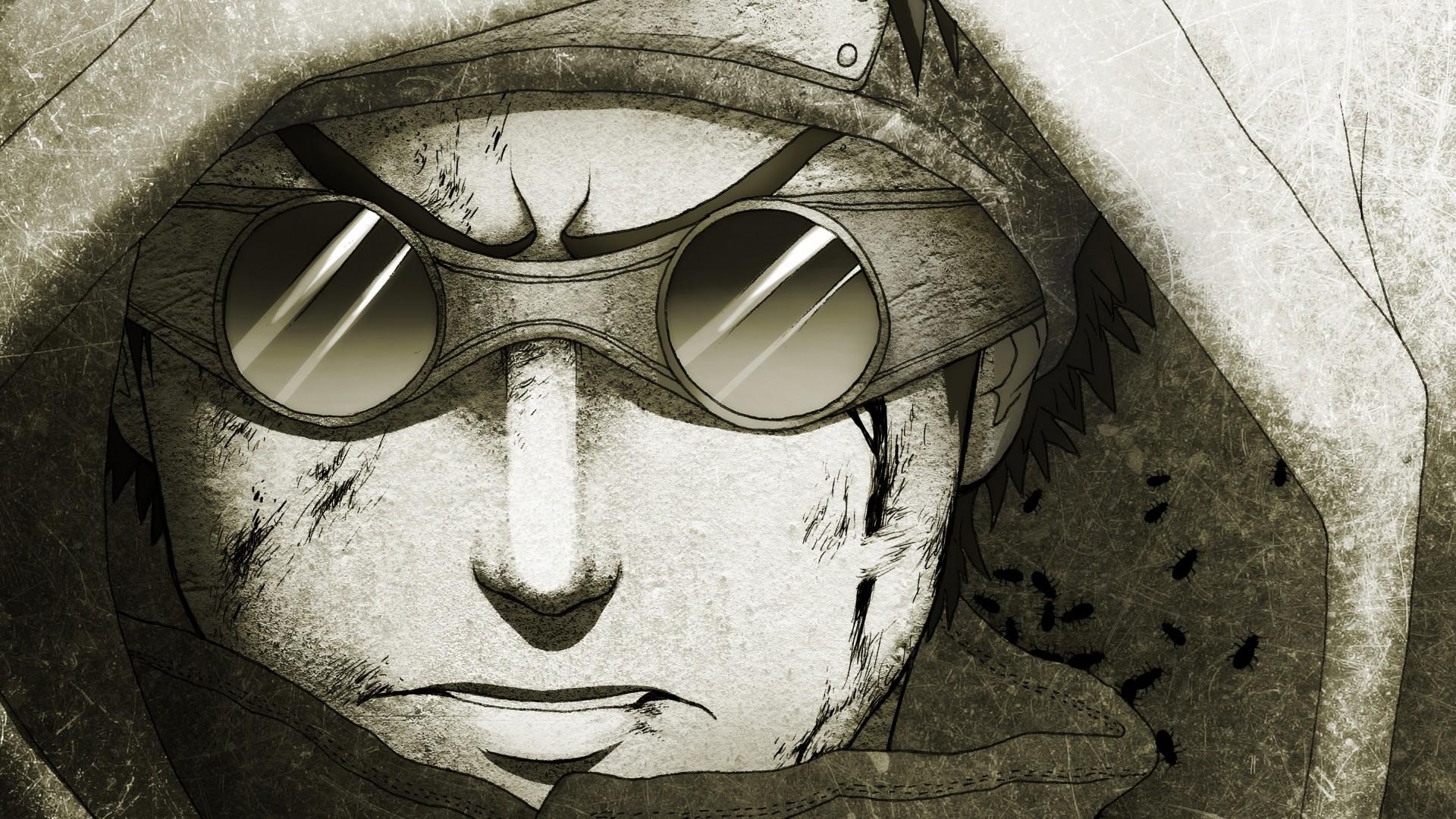 … Background Full HD 1080p. Wallpaper linnyxito, drawing, naruto,  aburame shino, guy