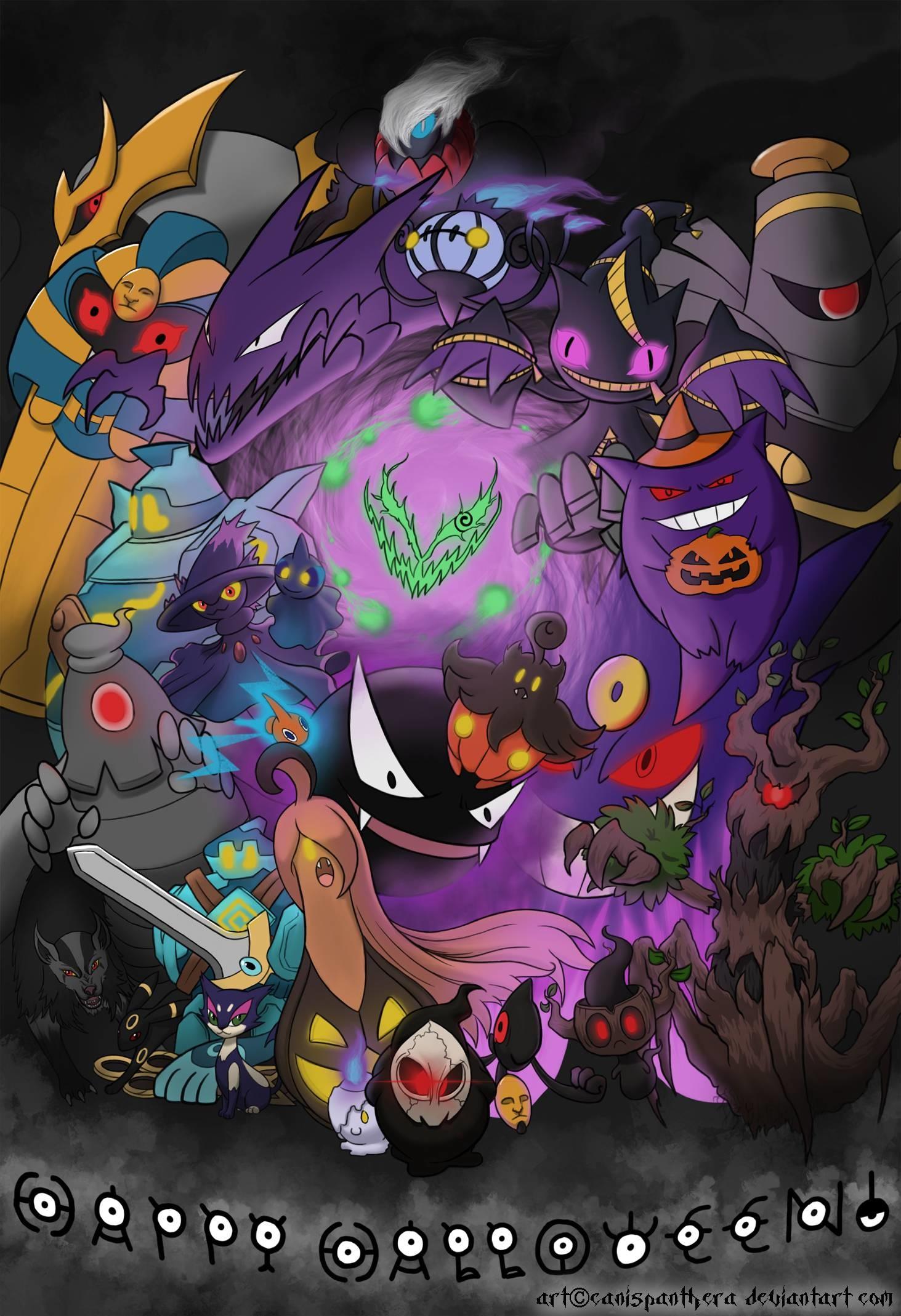 Halloween Poke Swirl