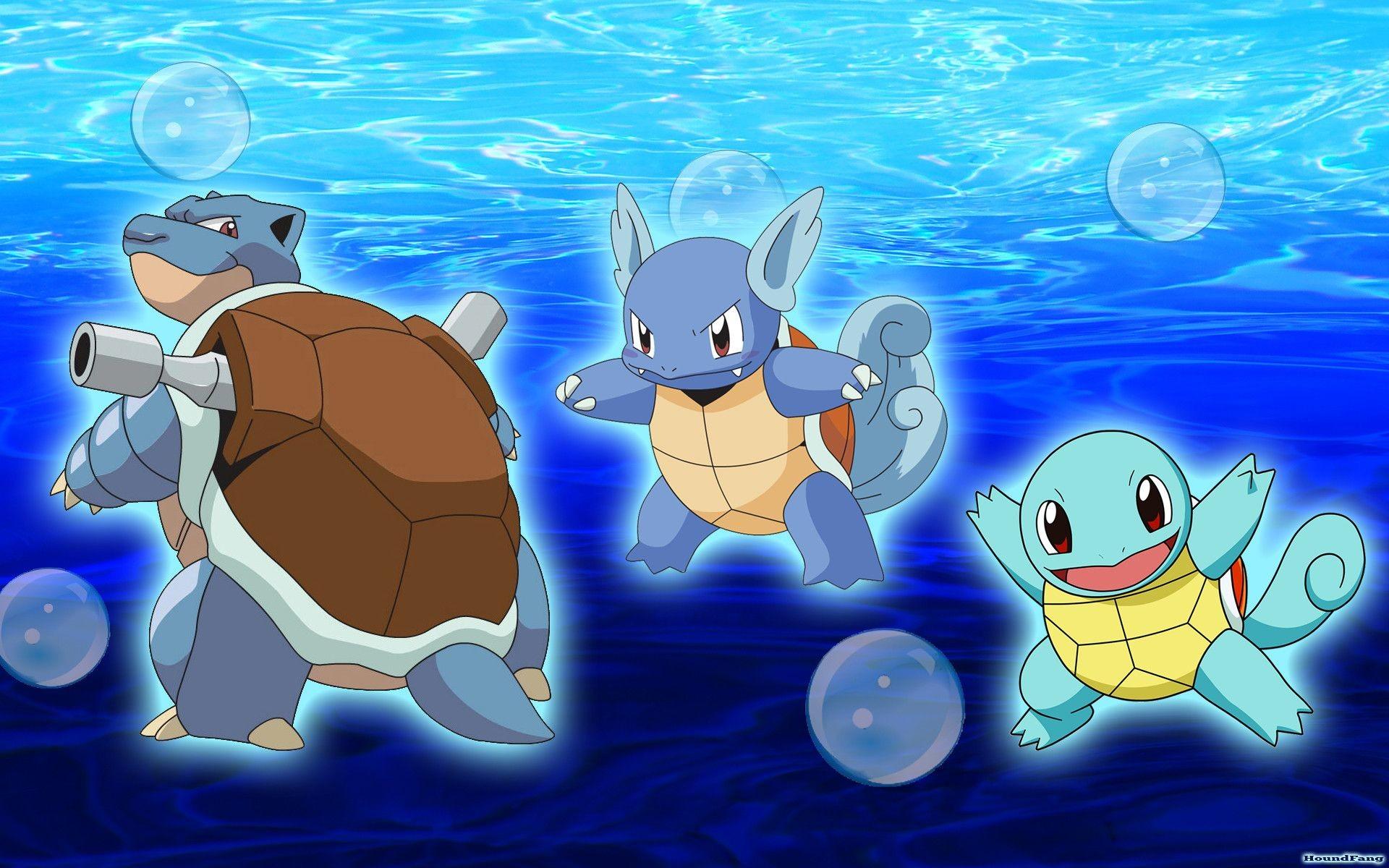 Wallpapers For > Water Starter Pokemon Wallpaper