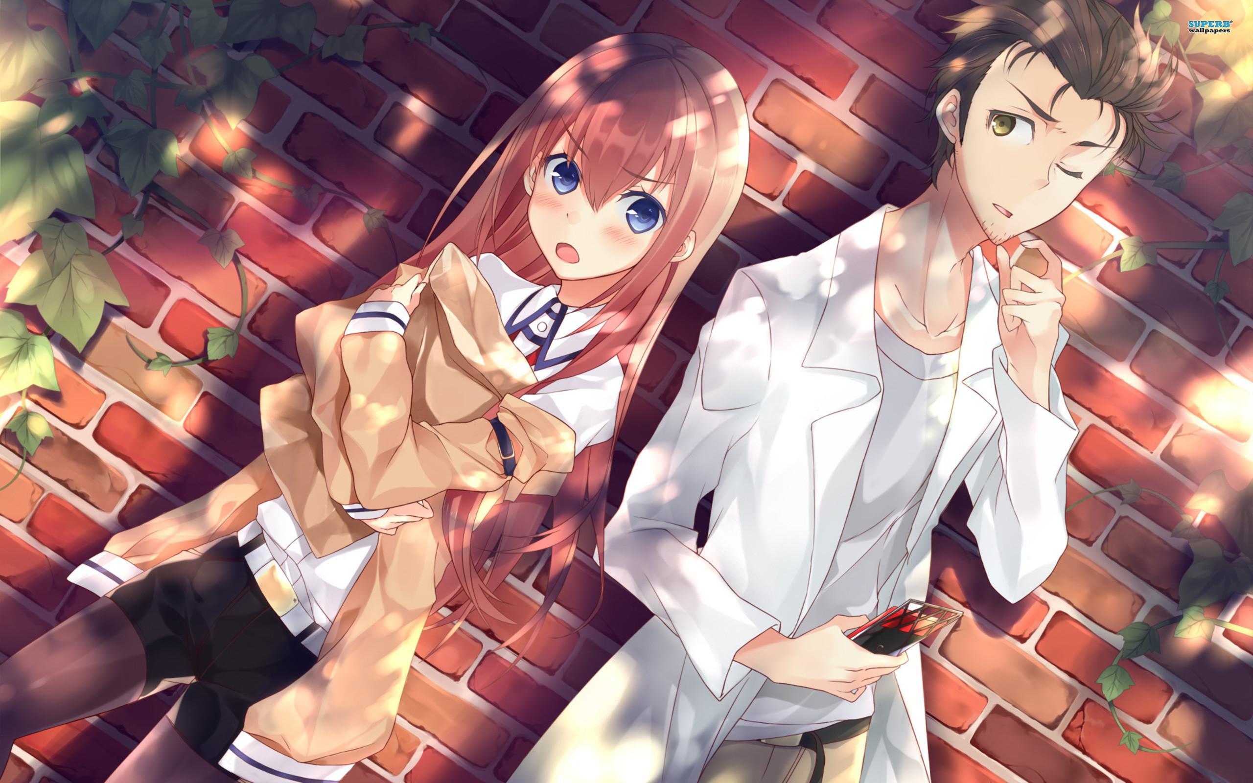 Anime – Steins;Gate Kurisu Makise Rintarou Okabe Wallpaper