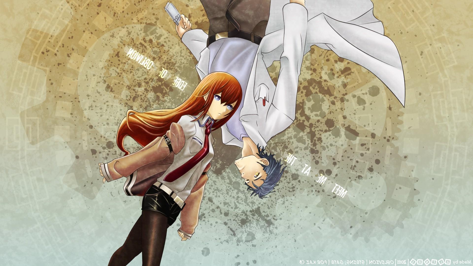 anime, Anime Girls, Steins;Gate, Makise Kurisu, Okabe Rintarou Wallpapers HD  / Desktop and Mobile Backgrounds