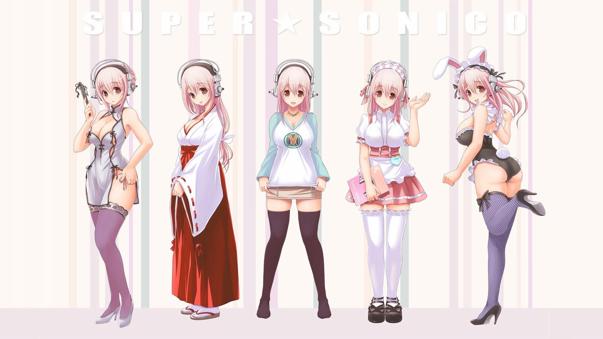 Super Sonico Anime Costumes Wallpaper