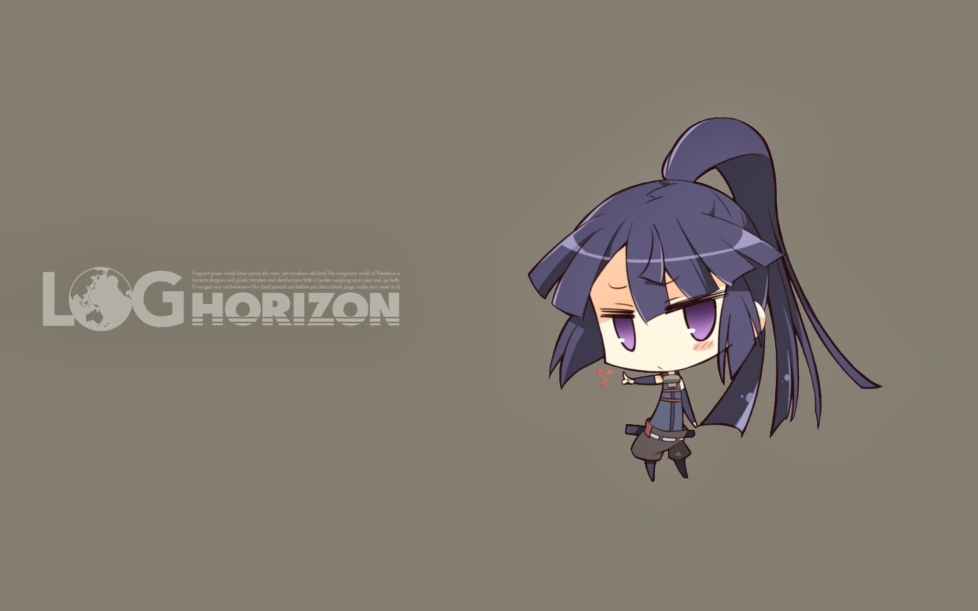 akatsuki chibi log horizon anime hd wallpaper 9k.