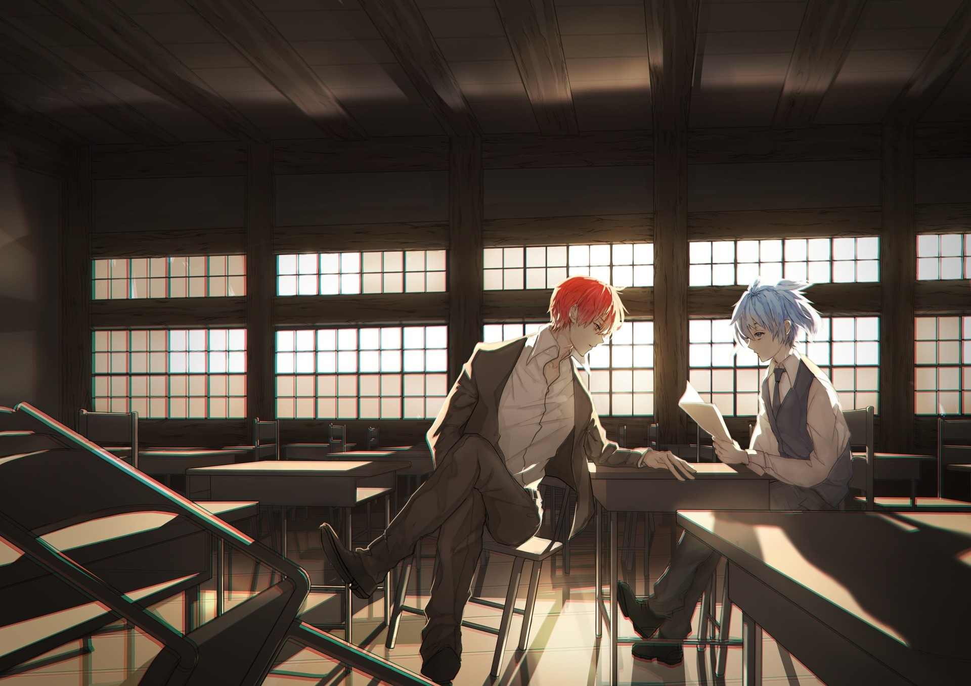 Anime Assassination Classroom Karma Akabane Nagisa Shiota Wallpaper