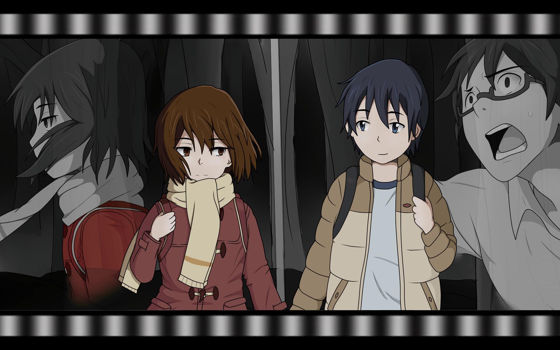 Anime – ERASED Boku Dake Ga Inai Machi Kayo Hinazuki Satoru Fujinuma  Bakgrund