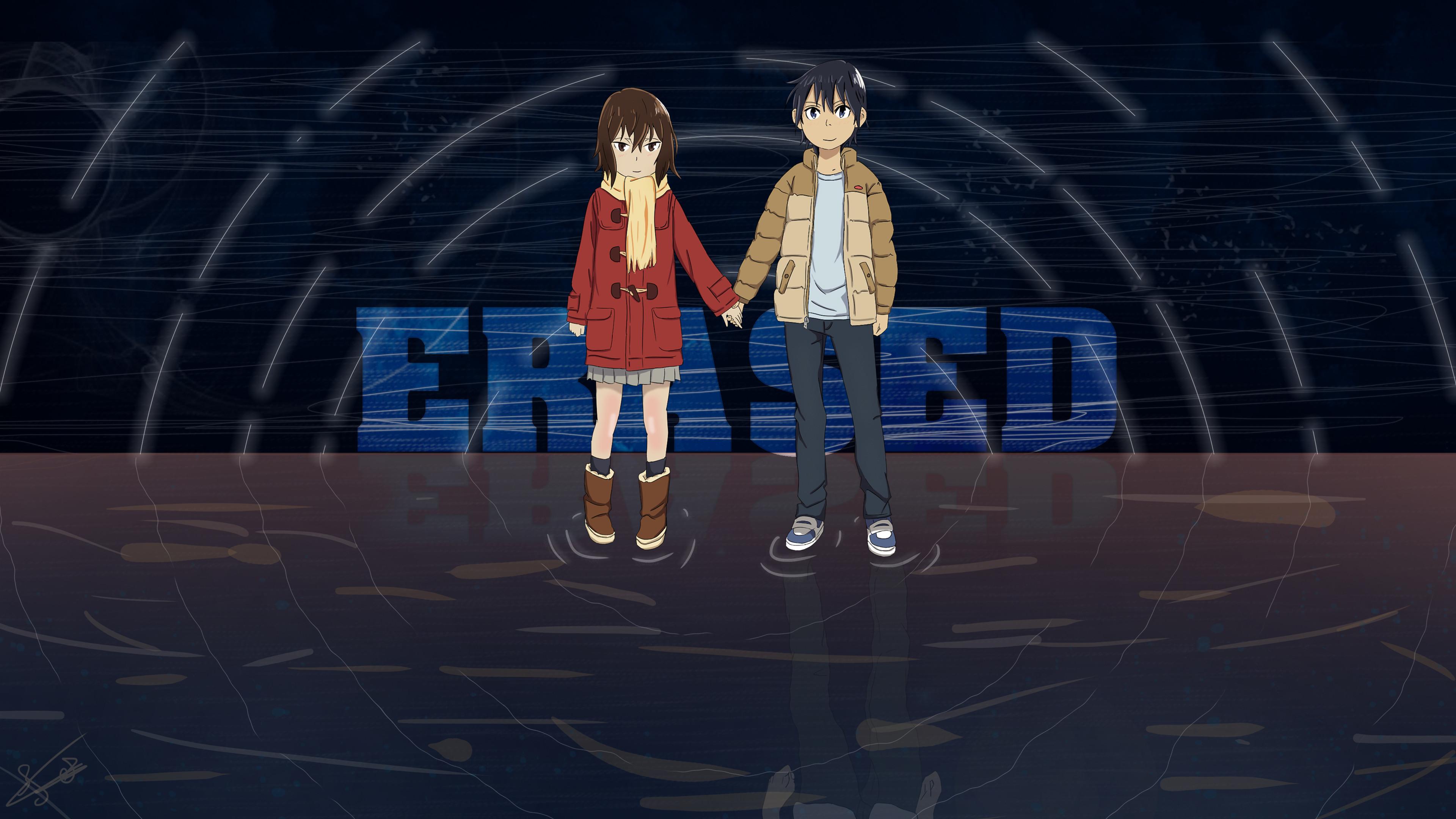 Anime – ERASED Satoru Fujinuma Kayo Hinazuki Bakgrund