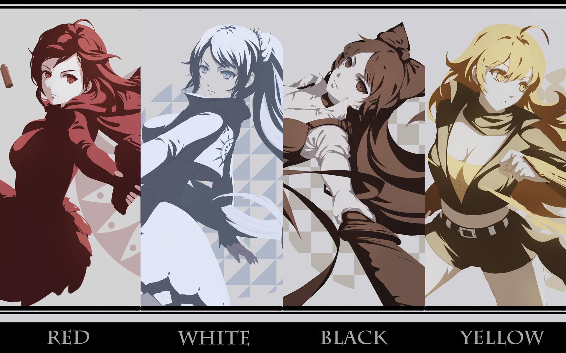 Anime RWBY Ruby Rose Weiss Schnee Blake Belladonna Yang Xiao Long Wallpaper