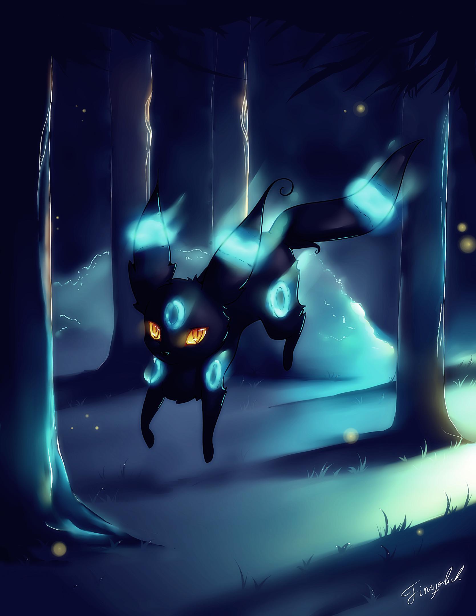 … Shiny Umbreon, Pokemon (with Speedpaint Video) by FinsterlichArt