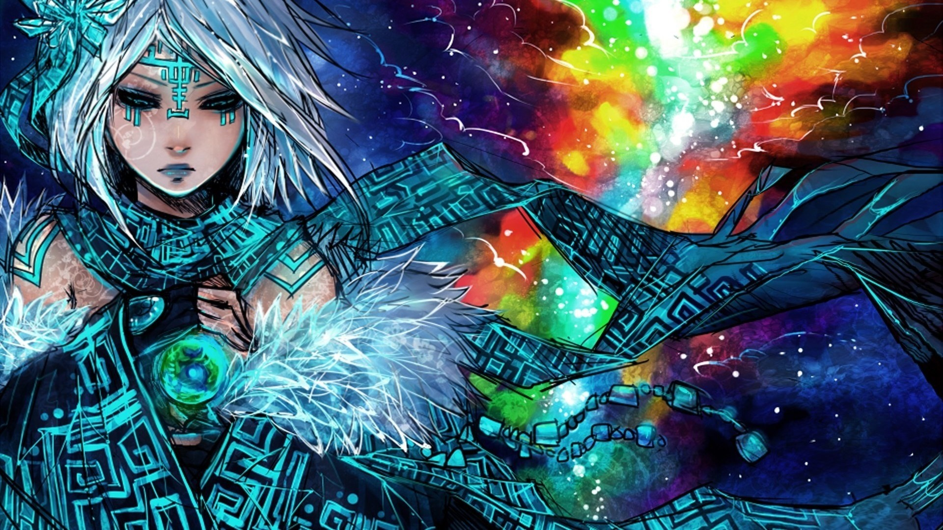tribal mage hd anime wallpaper · Hd Anime Wallpapers