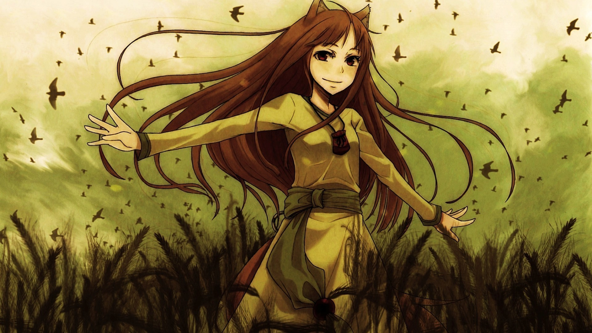 anime, Anime Girls, Spice And Wolf, Holo, Kitsunemimi Wallpapers HD /  Desktop and Mobile Backgrounds