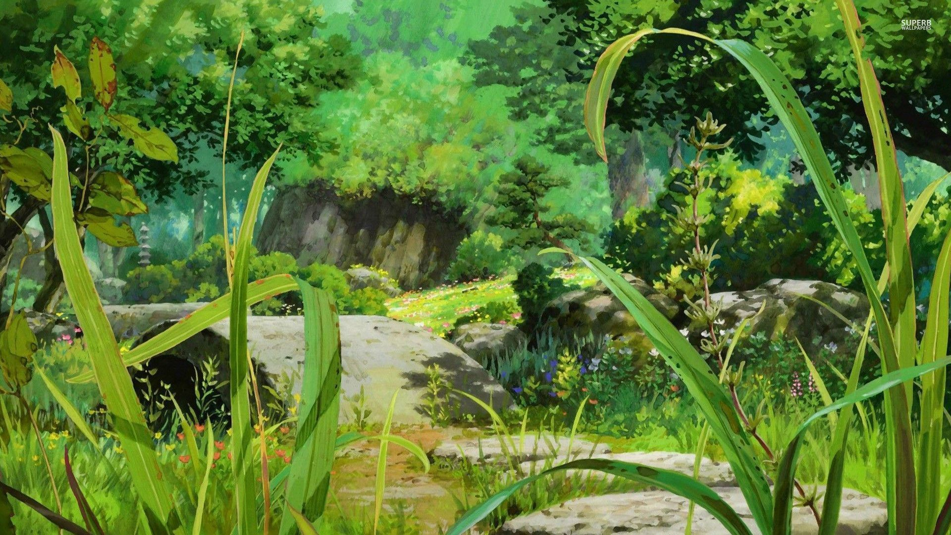 Anime Forest Backgrounds – Wallpaper Cave