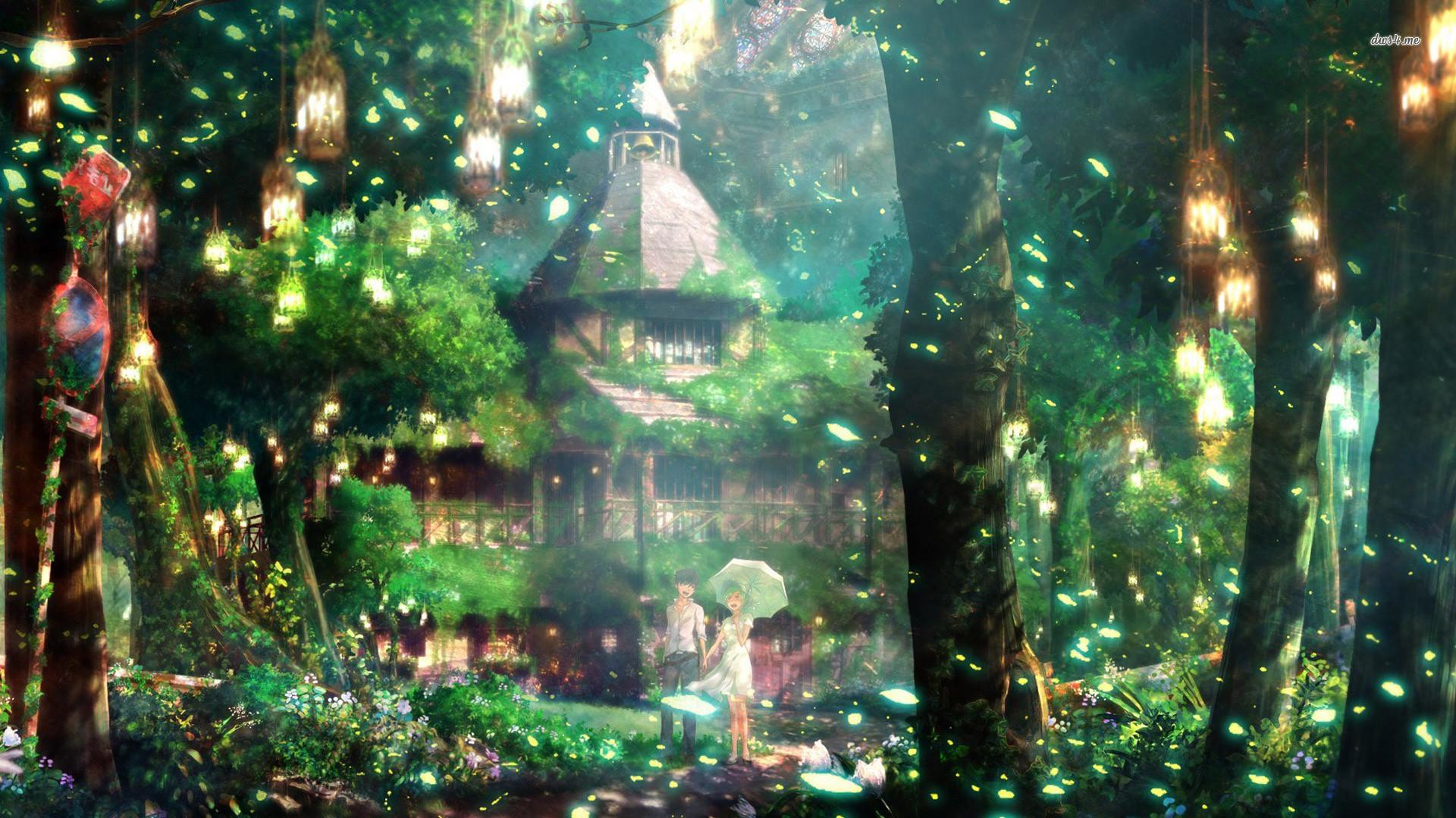 Magical forest Anime HD desktop wallpaper, Forest wallpaper, Couple  wallpaper – Anime no.