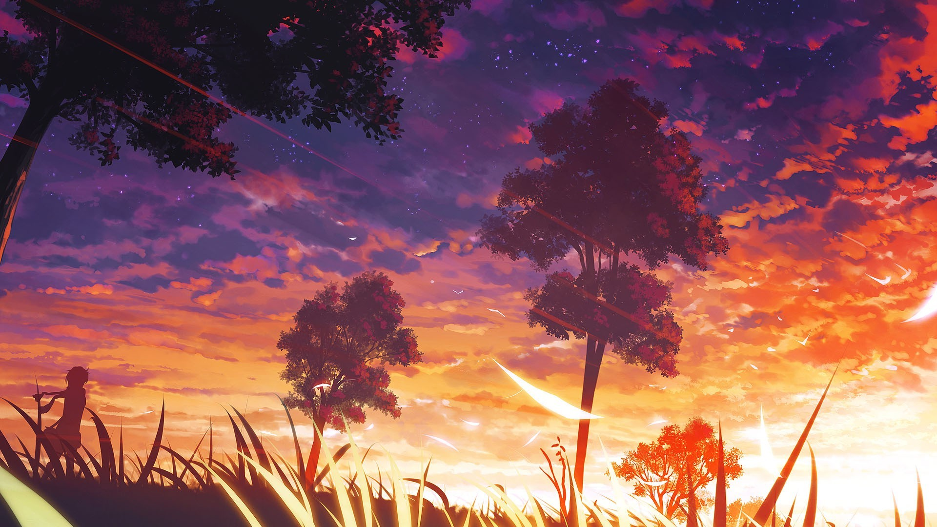 trees, Anime, Manga, Forest Wallpapers HD / Desktop and Mobile Backgrounds