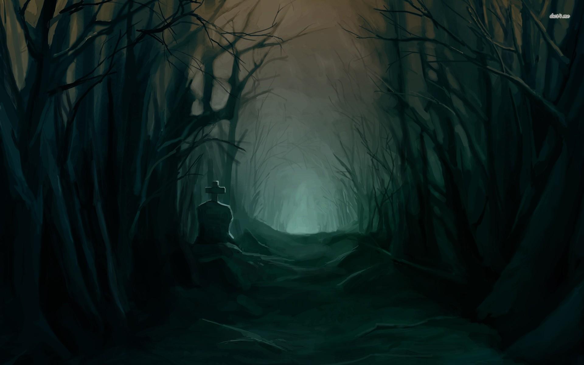 3029) Dark Forest Moon Wallpaper Ideas – WalOps.com