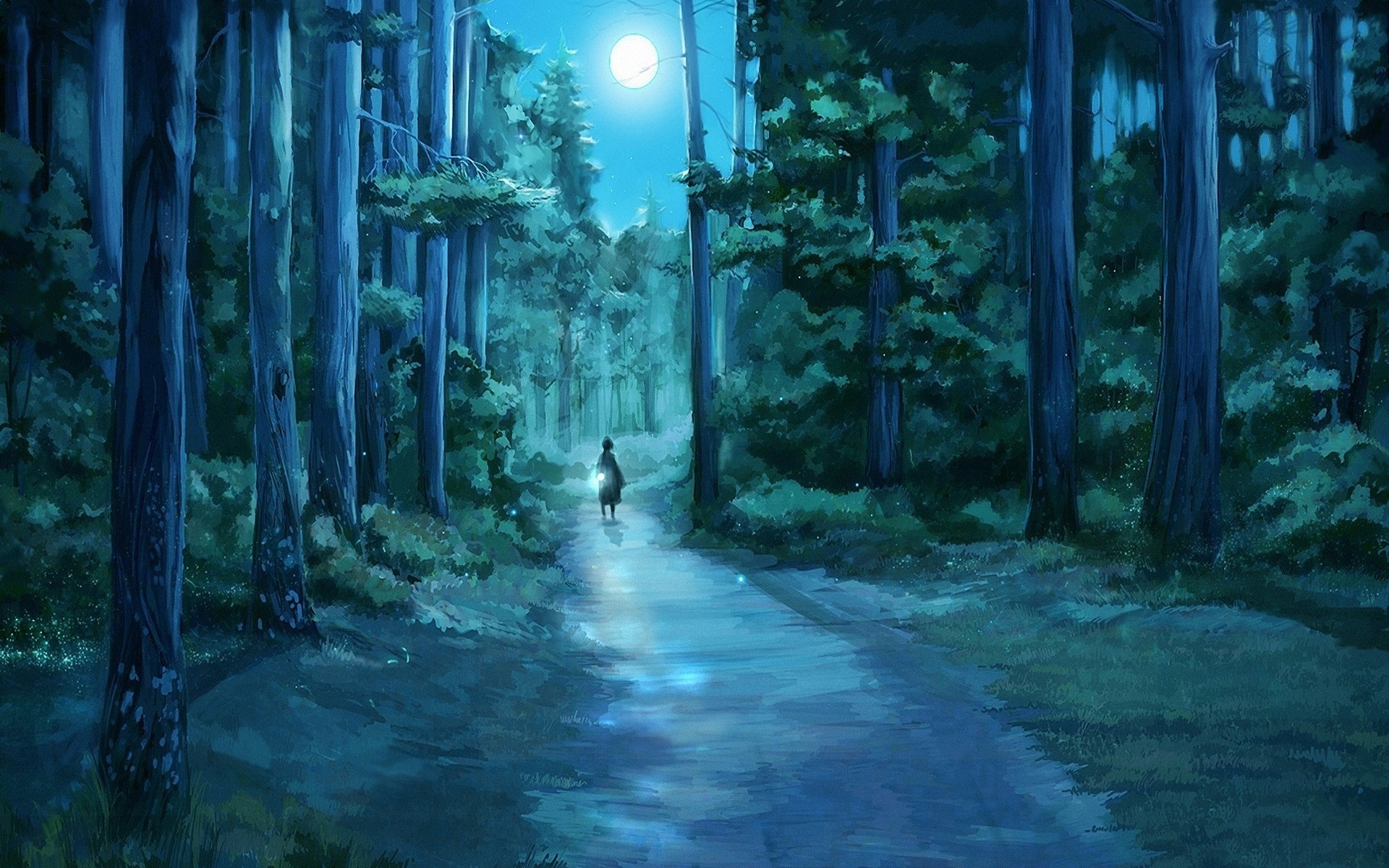 128 Anime Forest Background