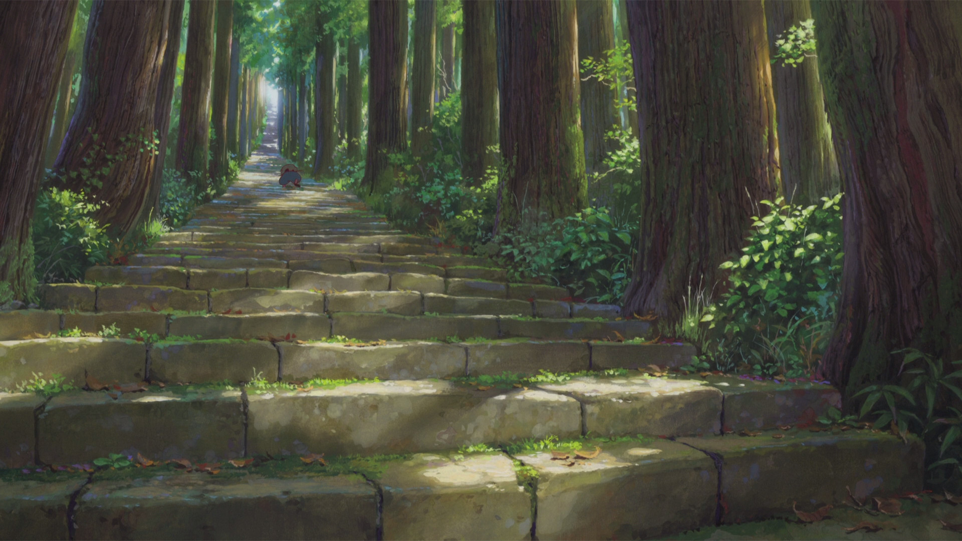 Anime – The Boy and the Beast Stairs Forest Bakemono no Ko Wallpaper
