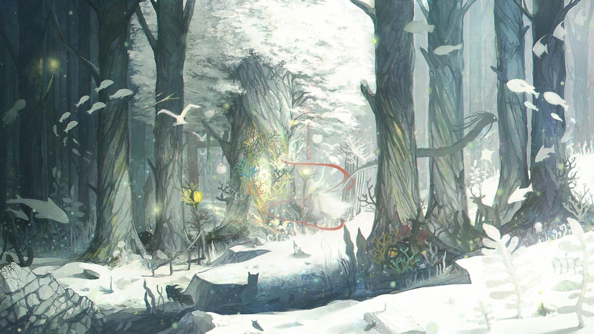 … Fantasy Forest 1080p Wallpaper
